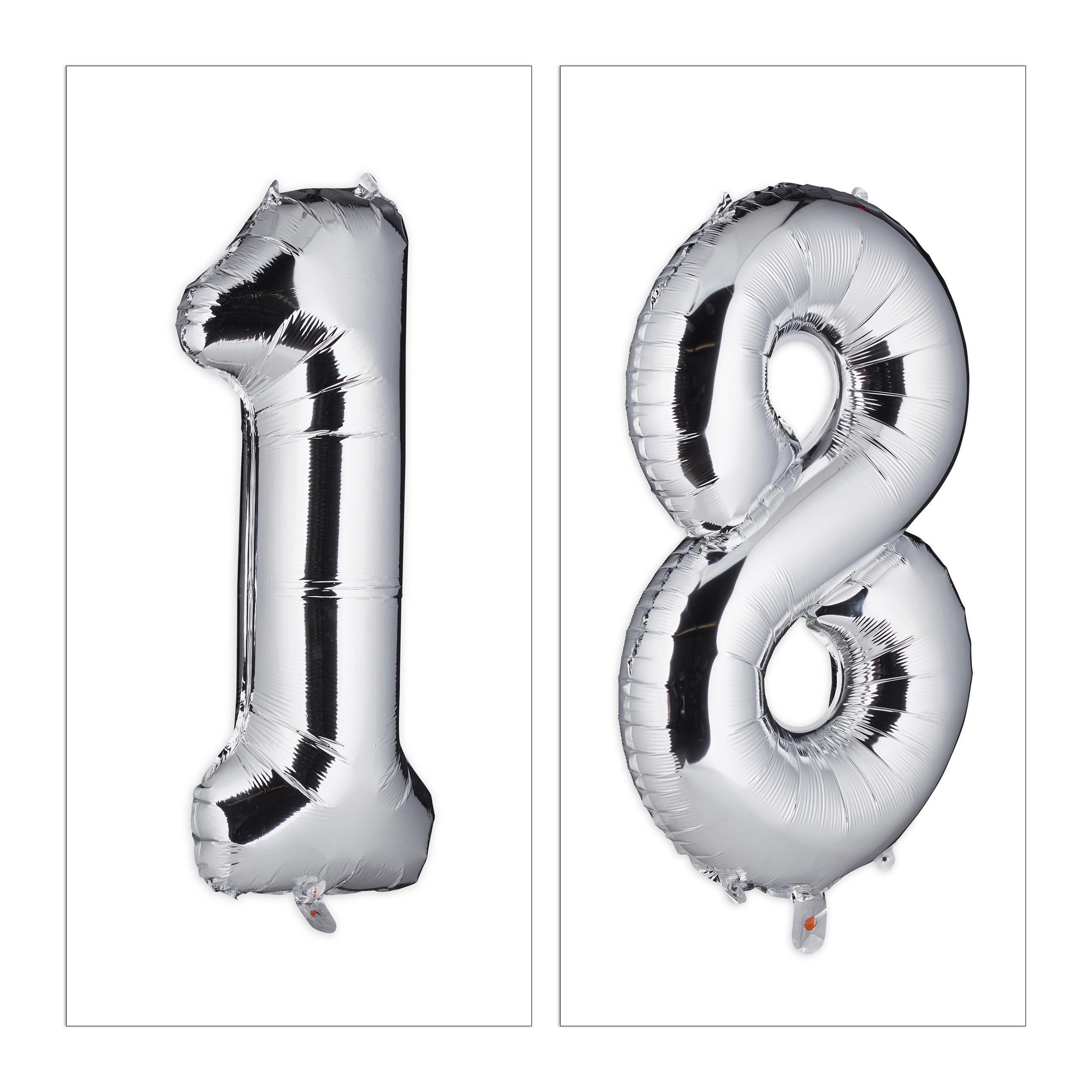 Folienballon 18 Zahlen Luftballon 18er-Ballons Riesenluftballon Helium Balloon