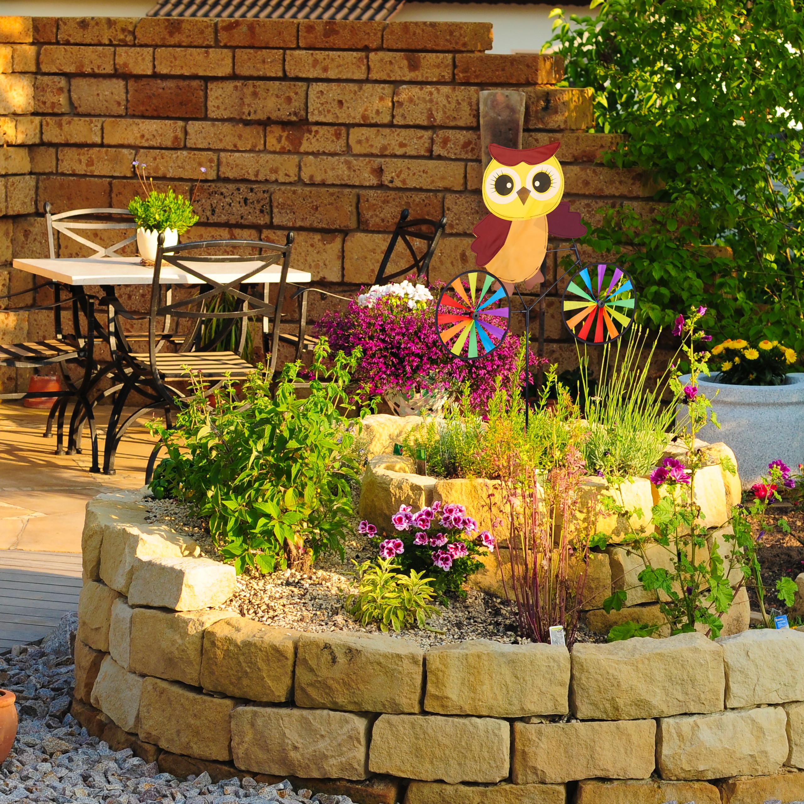 Windrad Tier Blumenstecker Gartenstecker Garten Windrad Kinder Balkon draußen