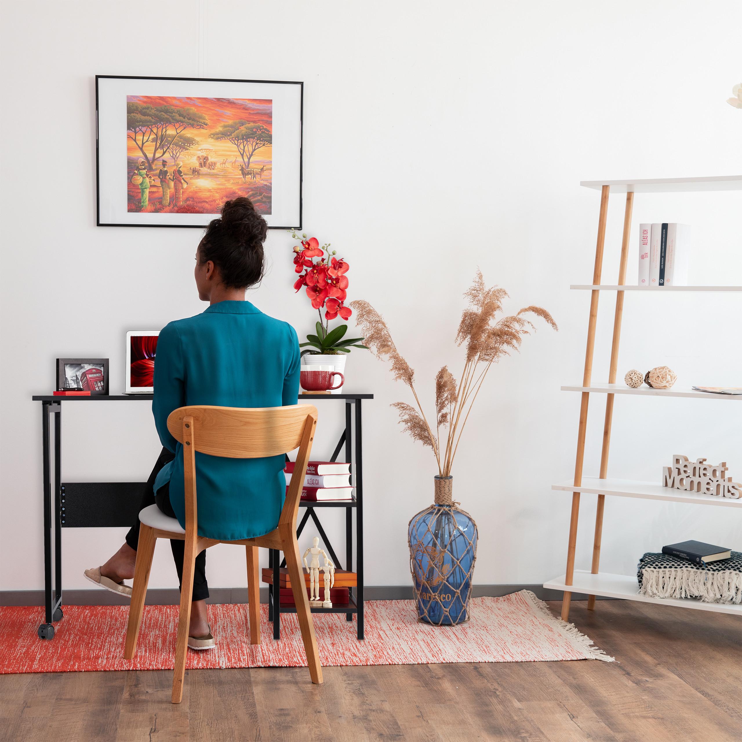 Schreibtisch klappbar Jugendschreibtisch PC-Schreibtisch Falttisch Ablagefächer