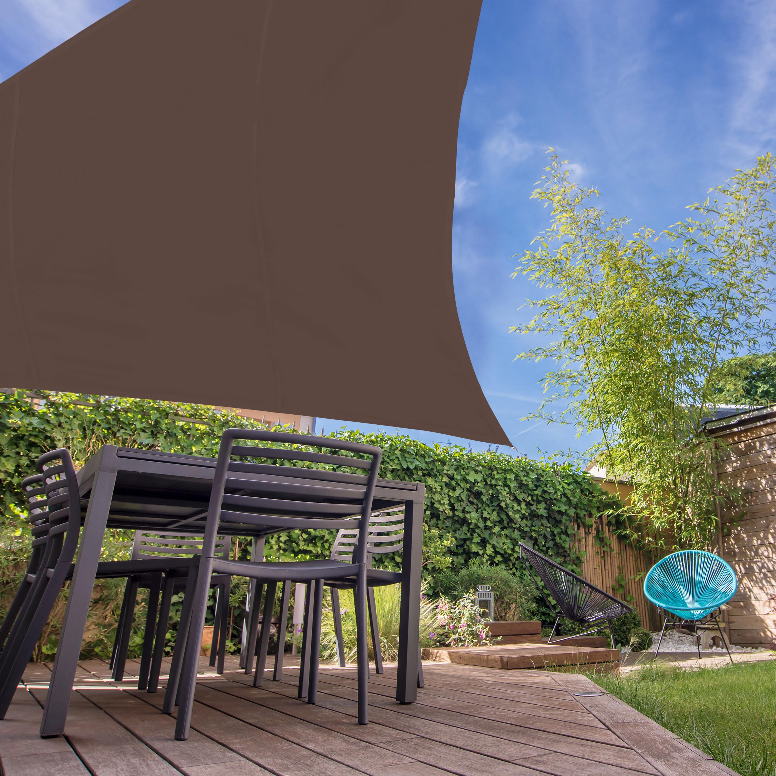Sonnensegel Dreieck Sun Shade Schattenspender Sonnentuch Segel ver Größen braun