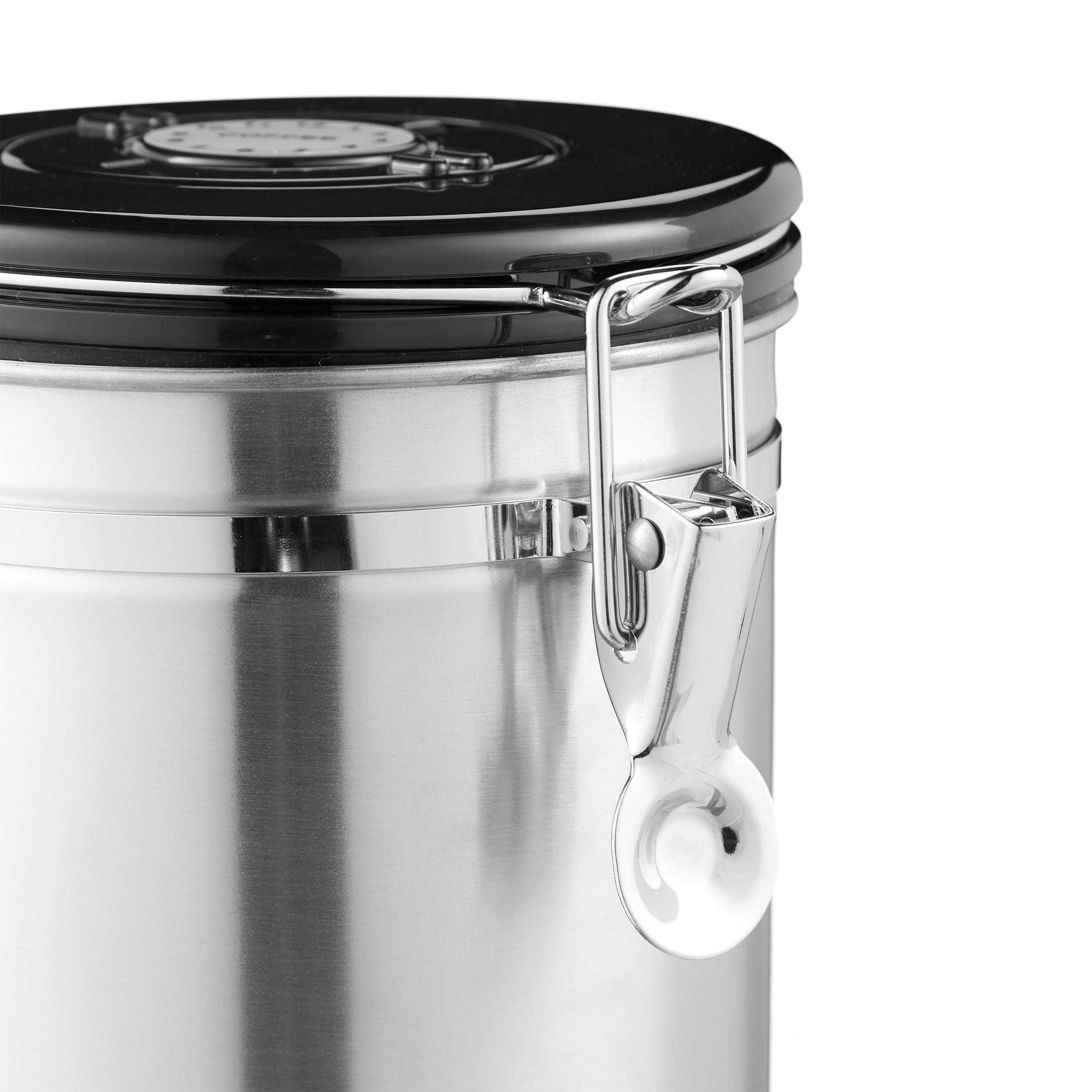 Kaffeedose silber Aromadose Kaffeebehälter Vakuumdose Kaffeepulverdose luftdicht