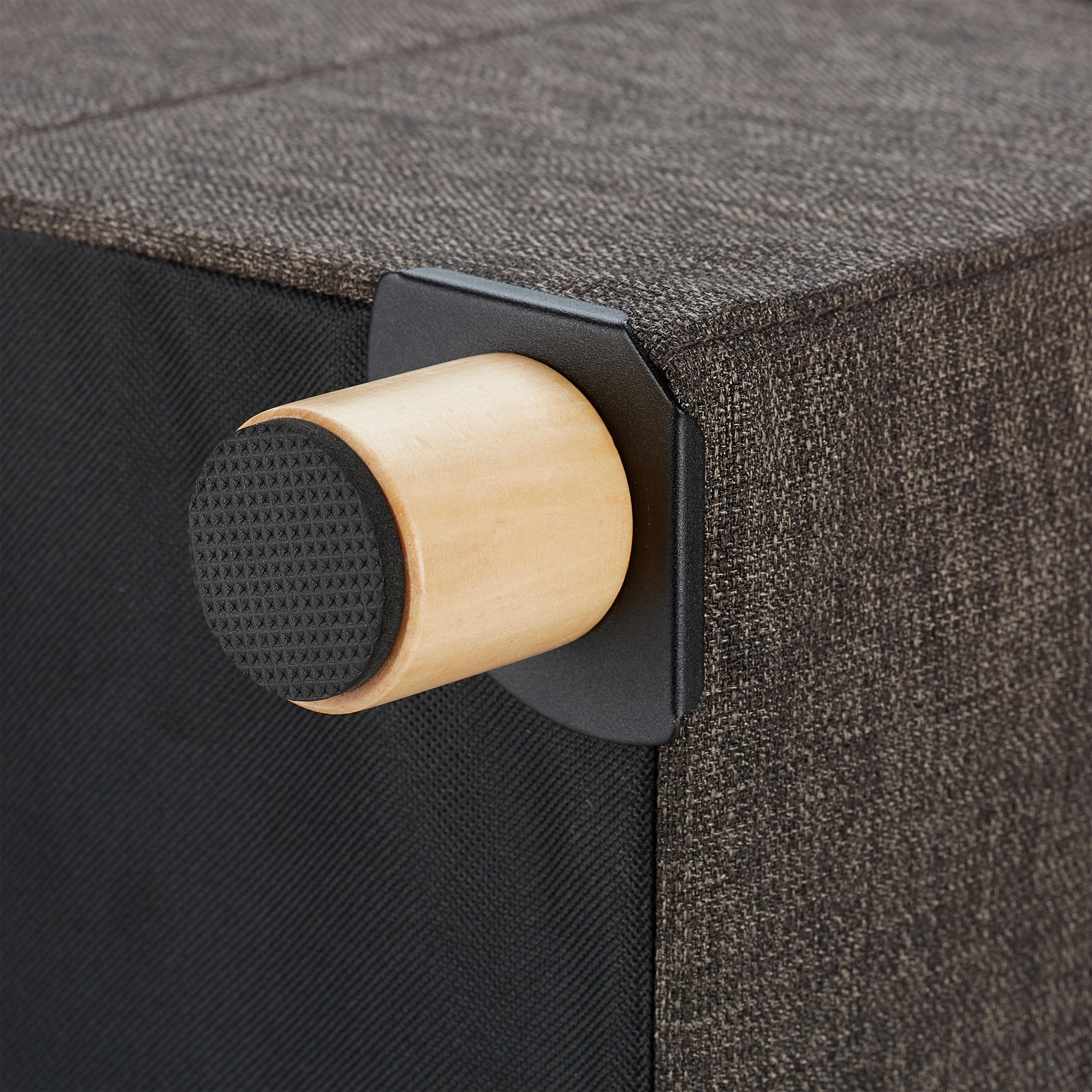 Stauhocker Polsterhocker Sitzhocker mit Stauraum Sitzwürfel Hocker Fusshocker
