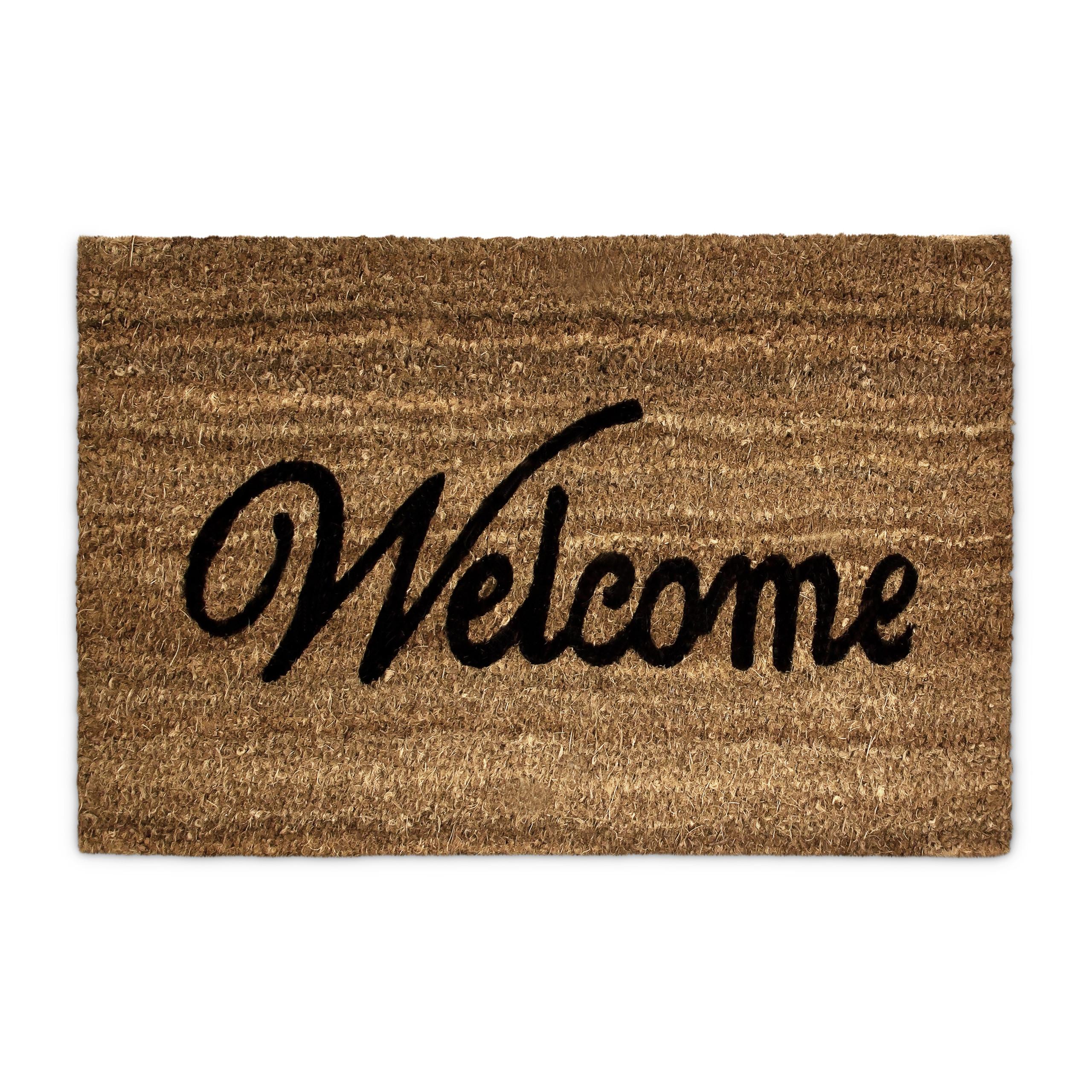"""Doormat Coco Coir """"Welcome"""" Mat Natural Porch Entrance Floormat Non-Slip Bottom"""