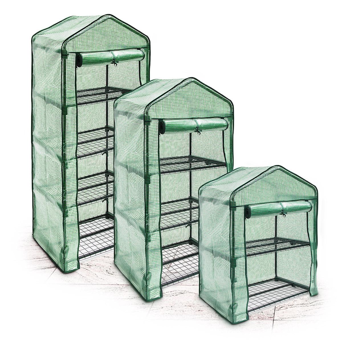 Détails sur Serre de jardin étagère de jardin avec bâche amovible balcon  terrasse Tente