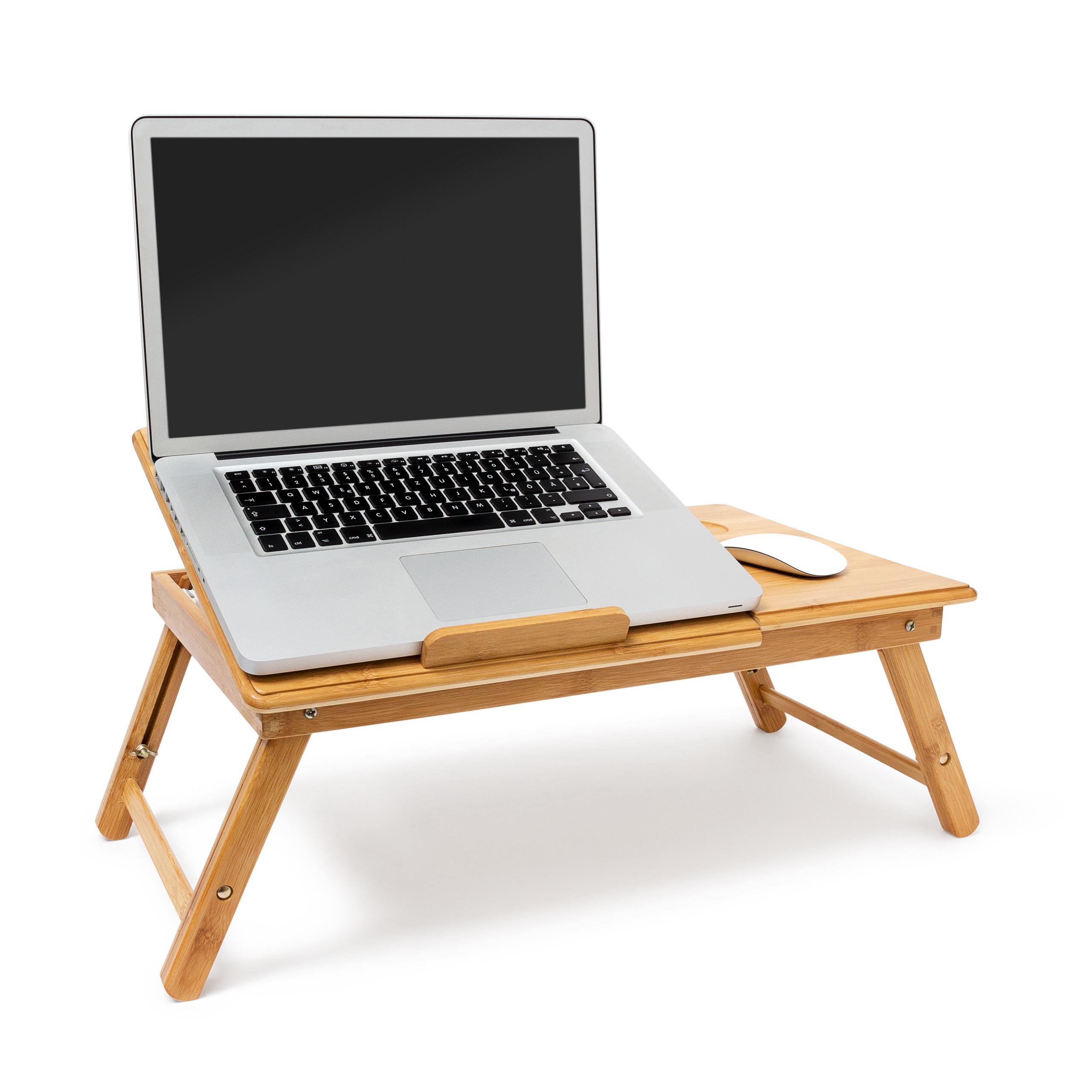 Betttablett Laptoptisch Bambus höhenverstellbar Laptop Ständer Notebook Lapdesk