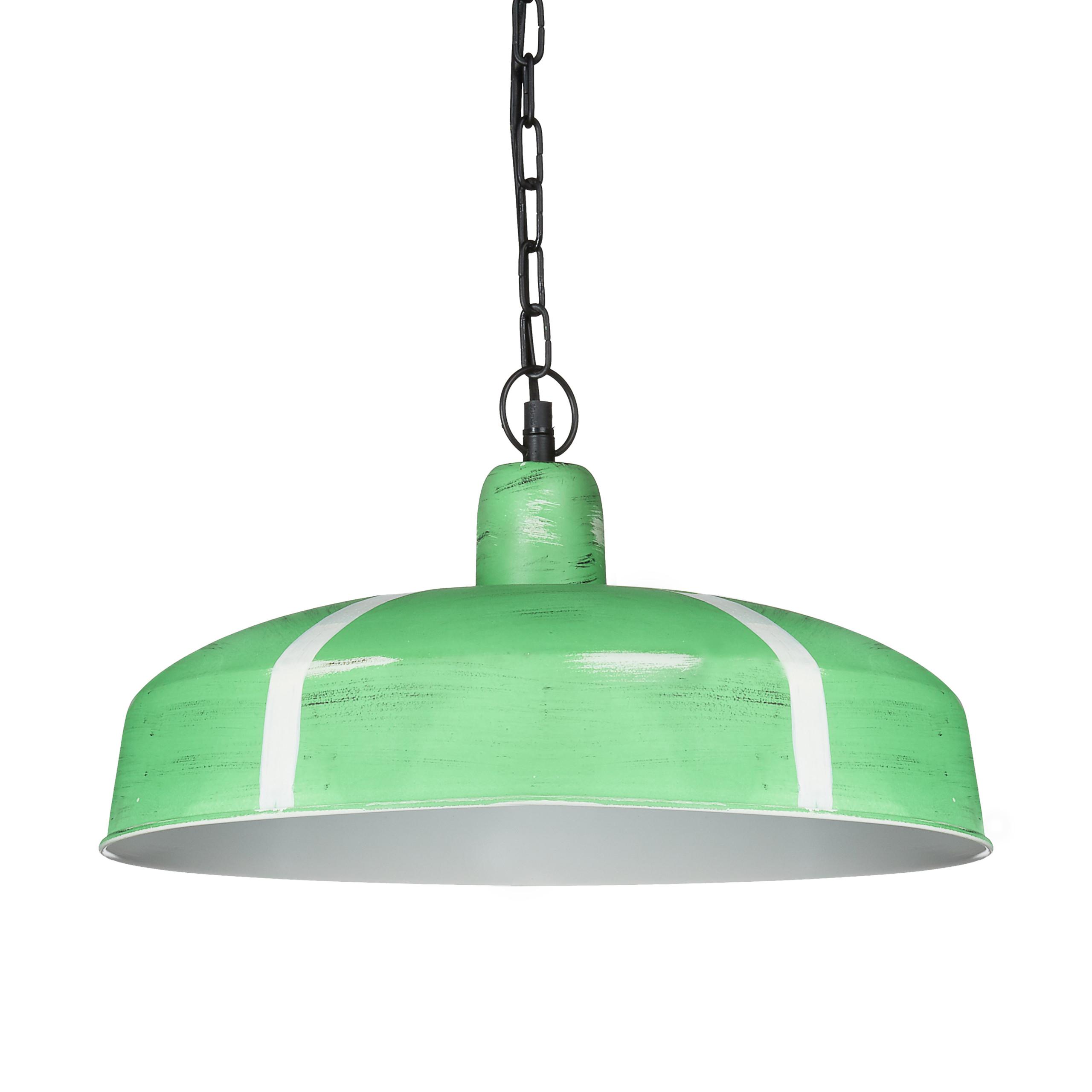 Lampara-colgante-de-techo-color-verde-blanco-diseno-industrial-iluminacion-hogar