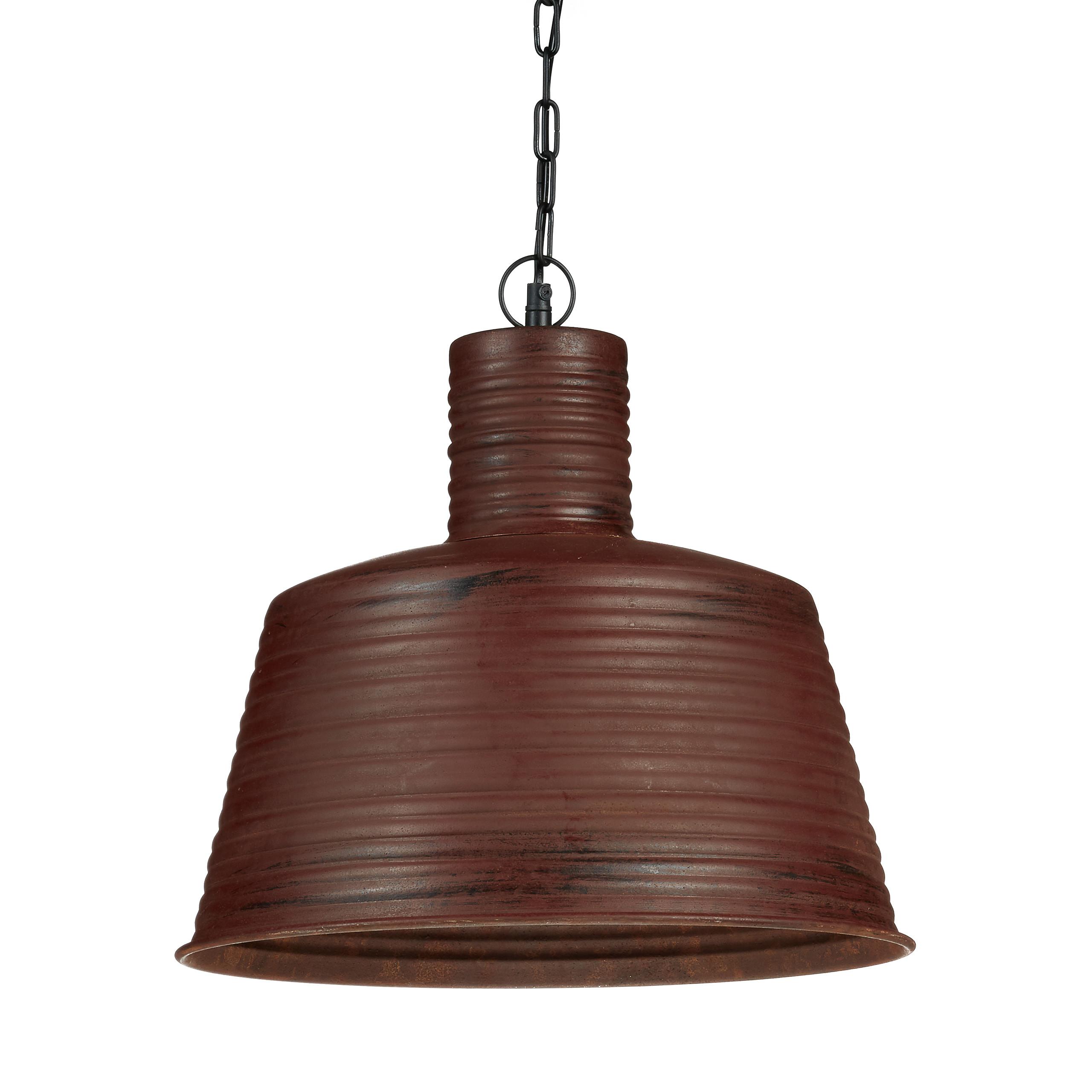 Pendelleuchte E27 Industriell Metall rostfarbig Vintage