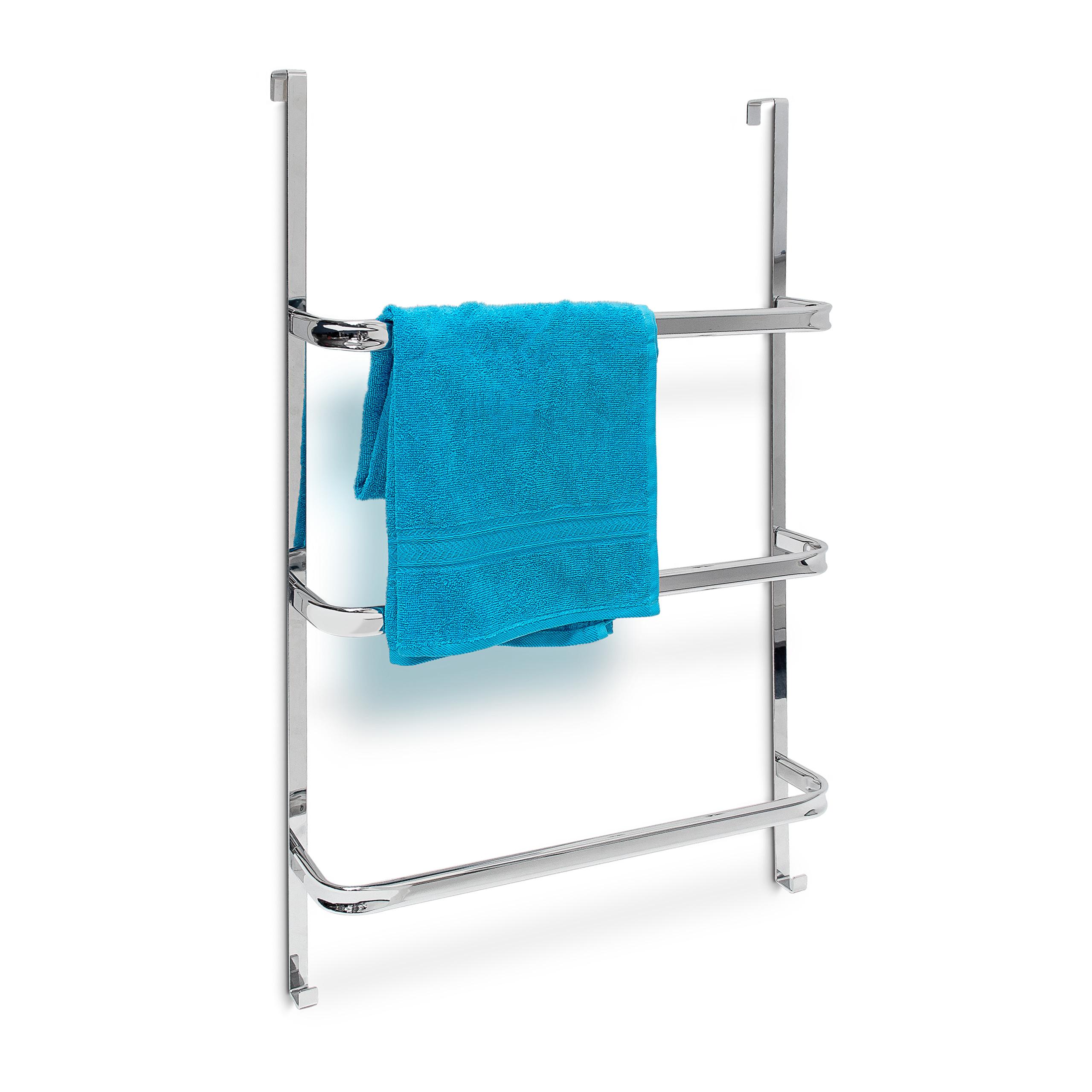 Handtuchhalter Tür Edelstahl 3 Stangen Handtuchhaken
