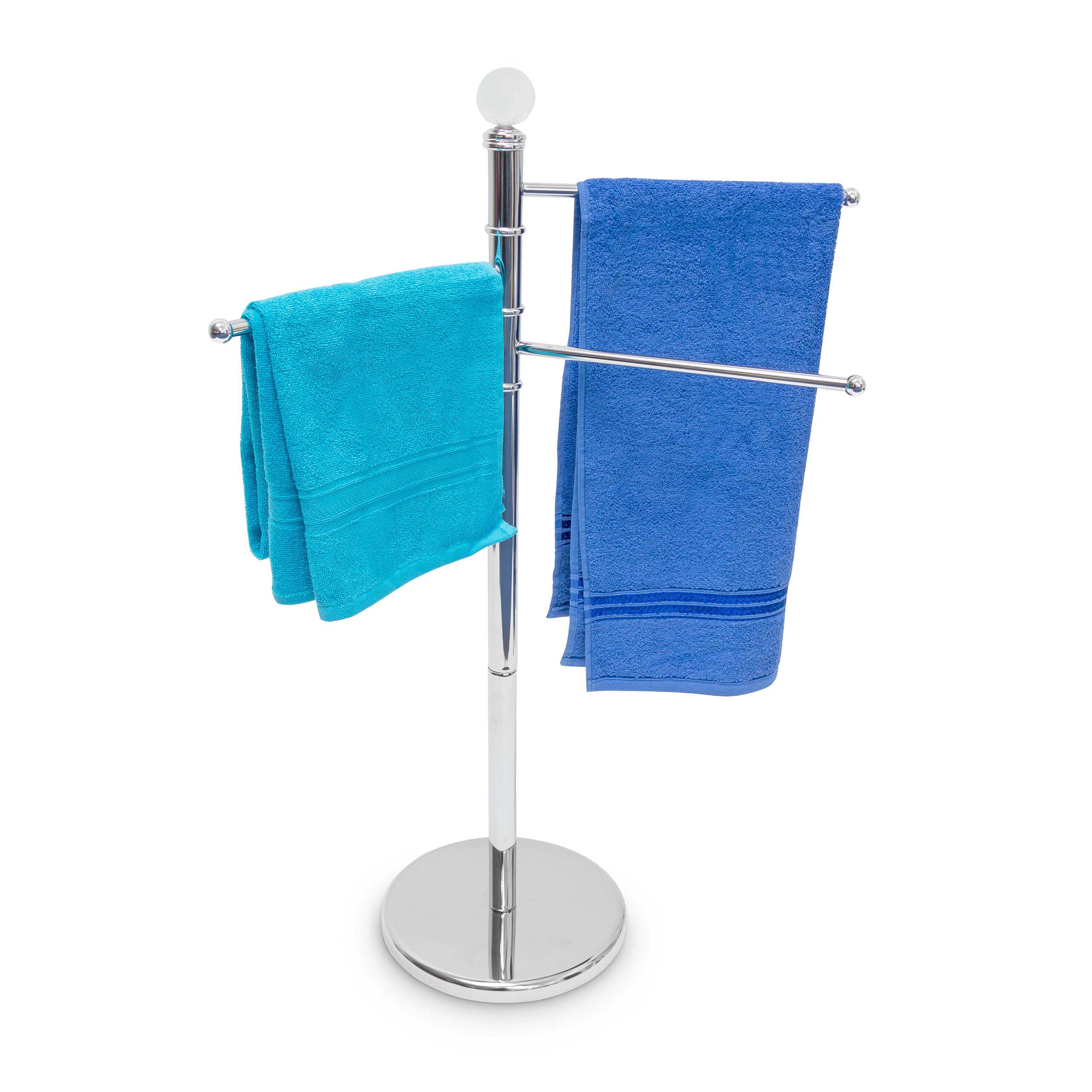 Porte-serviettes-Porte-serviette-accessoire-salle-de-bain-3-bras-Inox-chrome