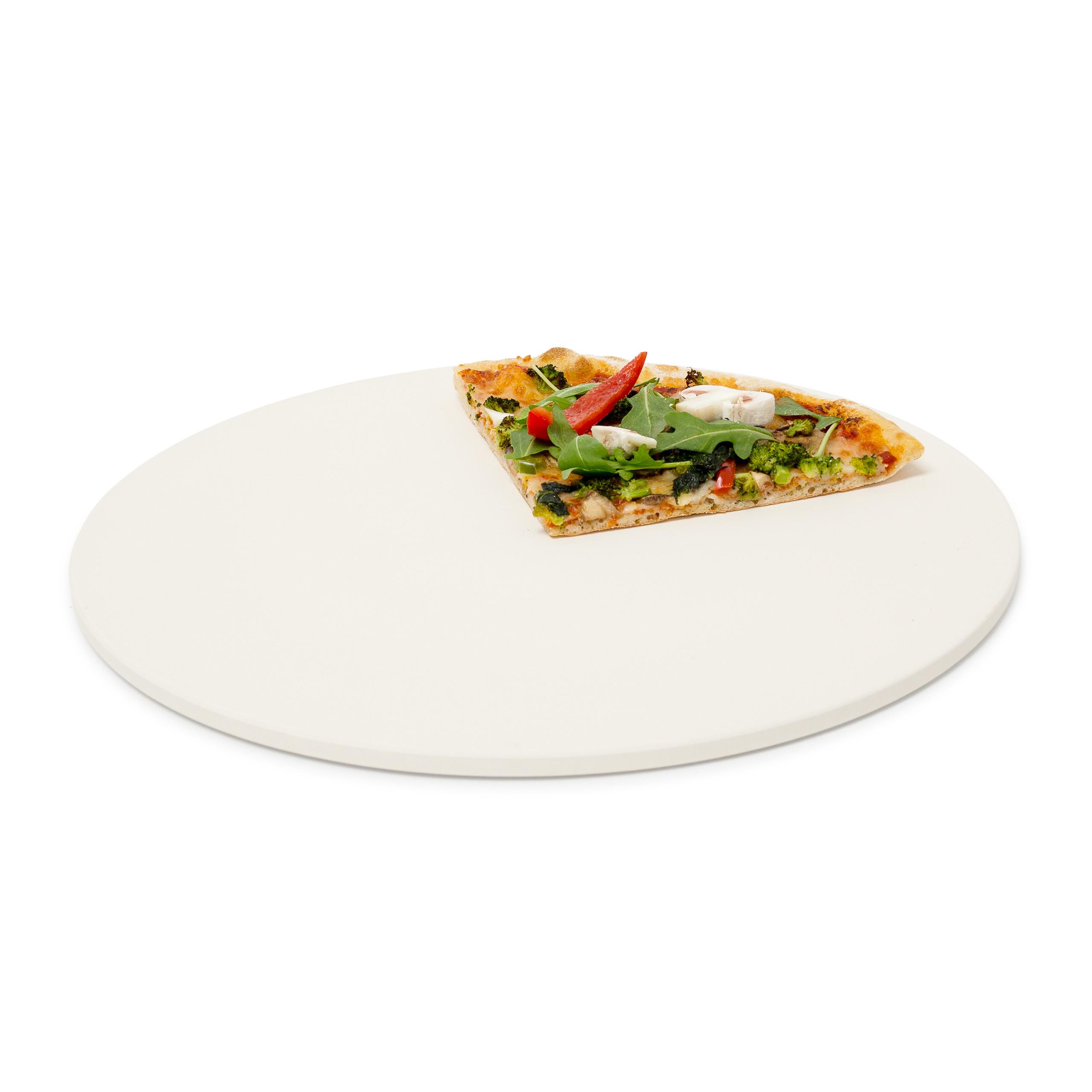 Pizzastein SET Schamottstein ø 33 cm Pizzaschaufel Brotbackstein Pizzaofen Flamm