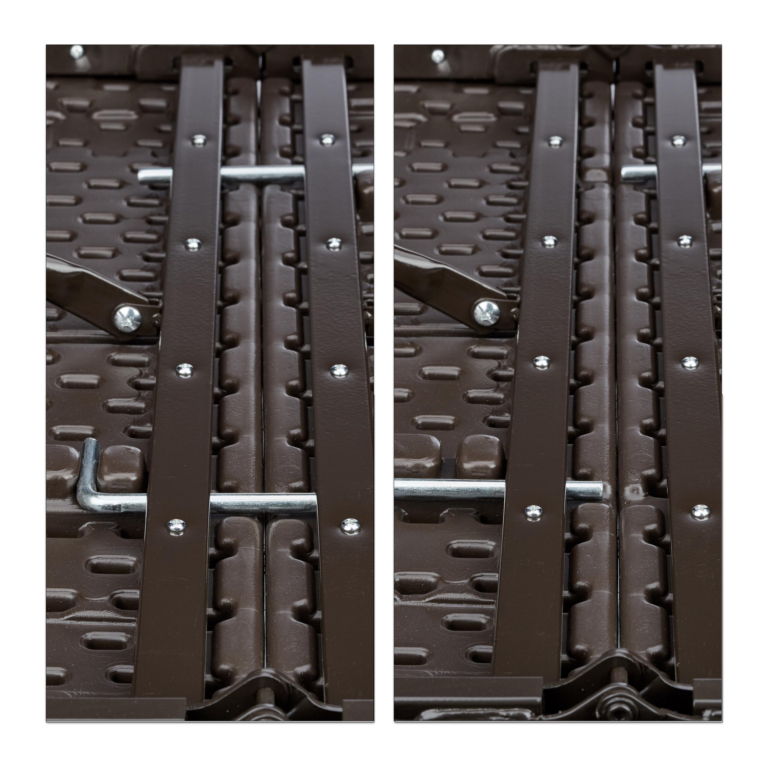 Bierzeltgarnitur-klappbar-BASTIAN-in-Rattan-Optik-Gartenmoebel-Set-Biertisch Indexbild 7