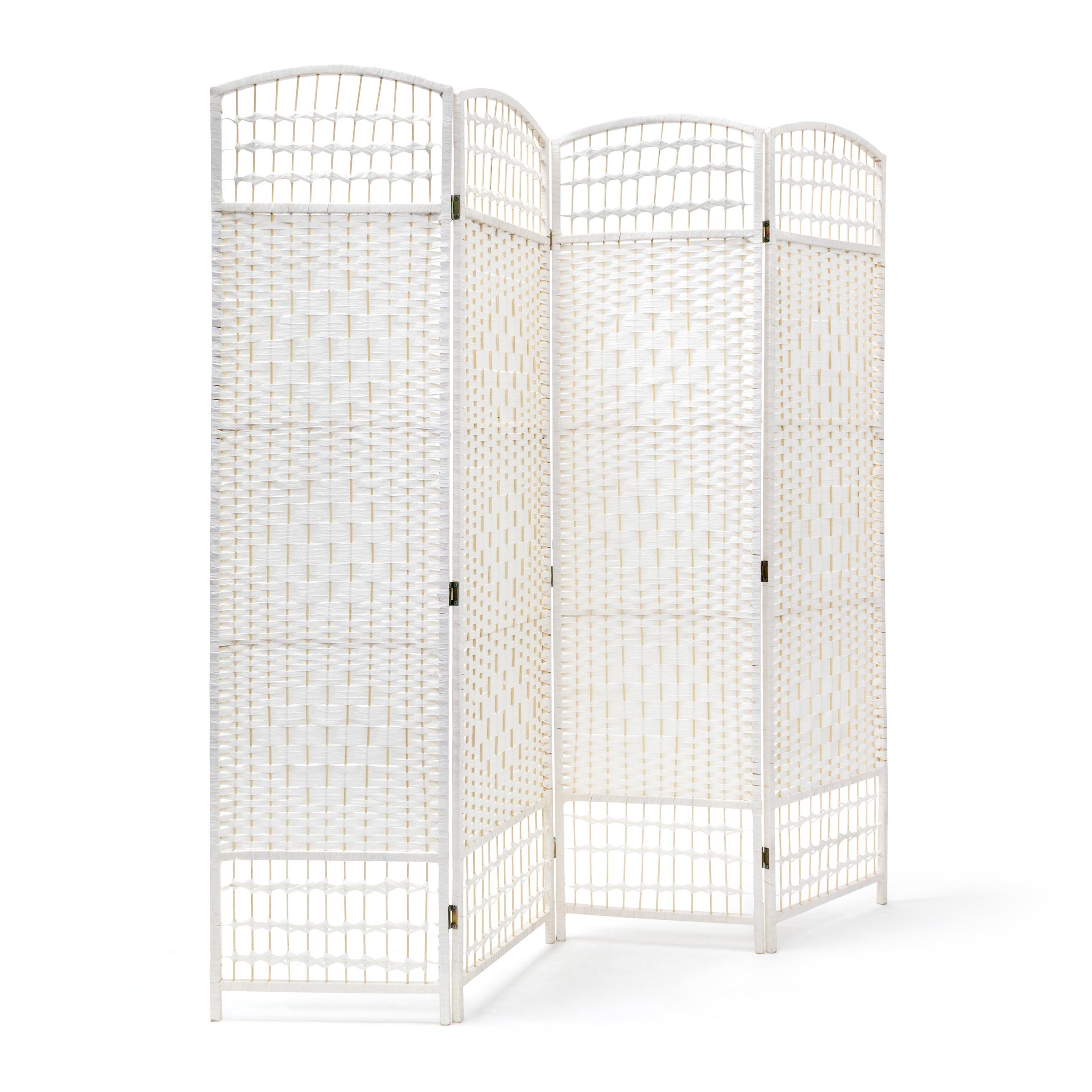 Paravent-4-teilig-Sichtschutz-Raumteiler-Trennwand-Raumtrenner-Spanische-Wand