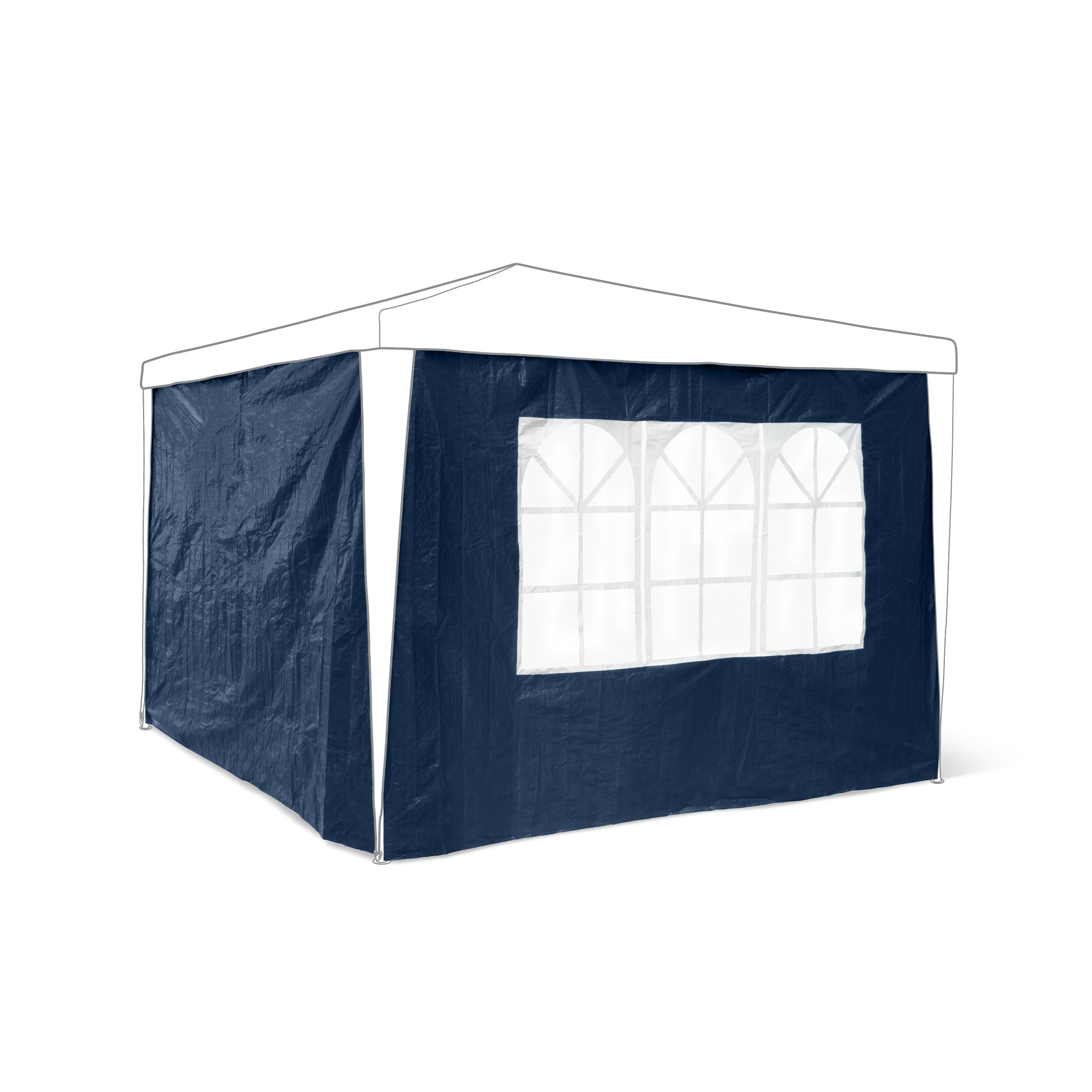 Pavillon-Seitenteile-2-Teile-Seitenwand-Pavillion-Partyzelt-Gartenpavillion-3x3m