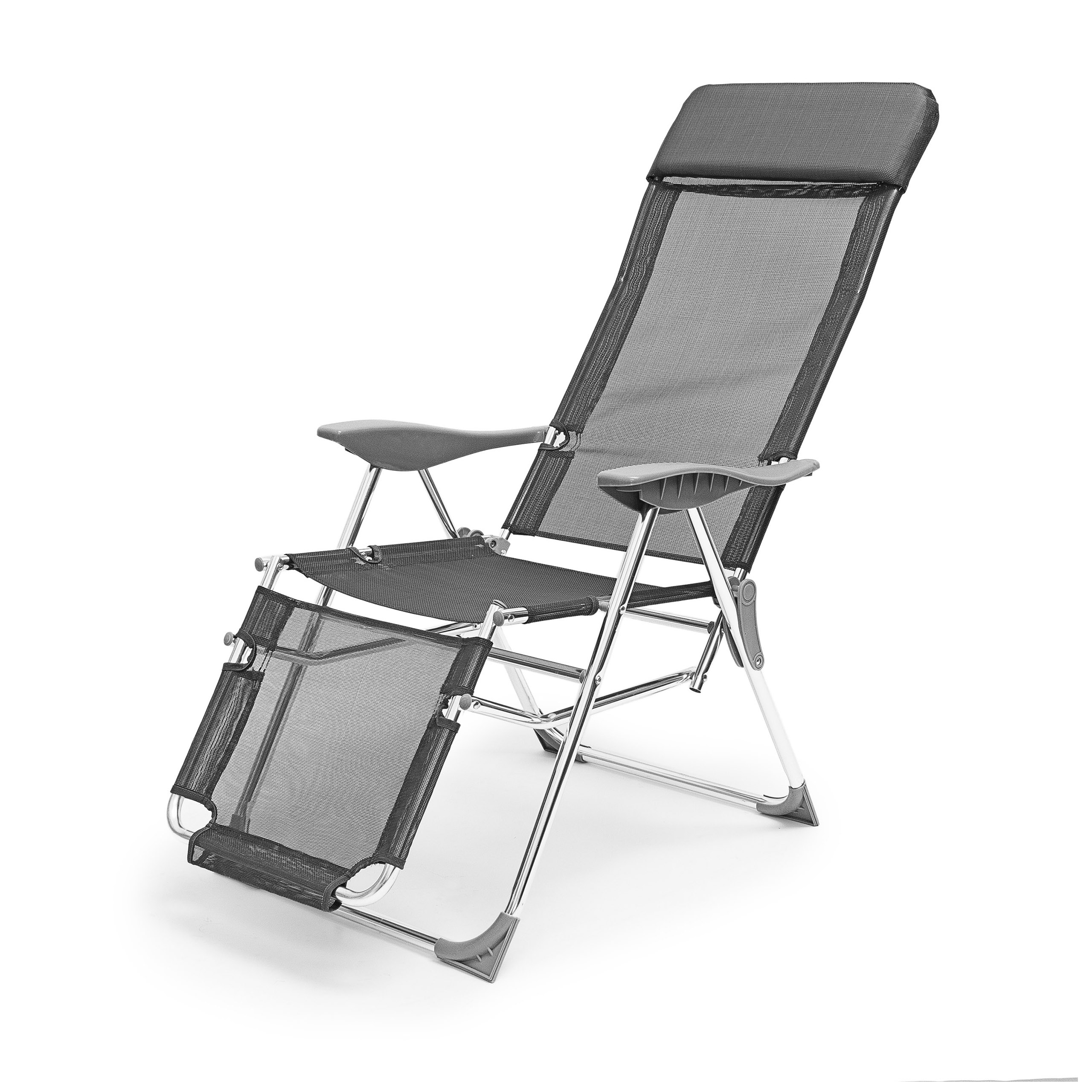 Relaxdays 10020082 Chaise longue de Camping pliante pliable Transat on chaise sofa sleeper, chaise recliner chair, chaise furniture,