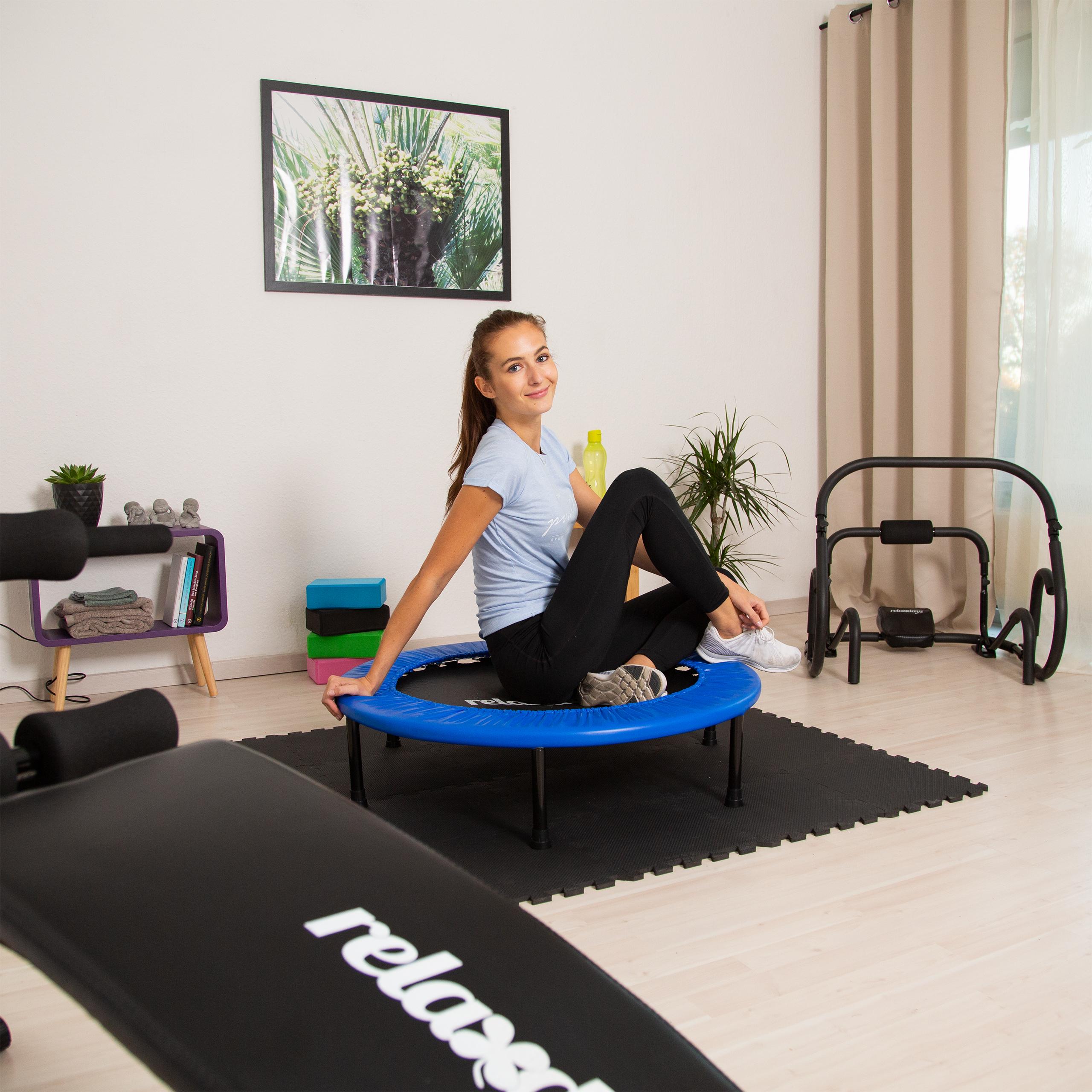 Fitness-Trampolin-Aerobic-Indoor-Fitnesstrampolin-Ausdauer-Training-bis-100-kg Indexbild 9