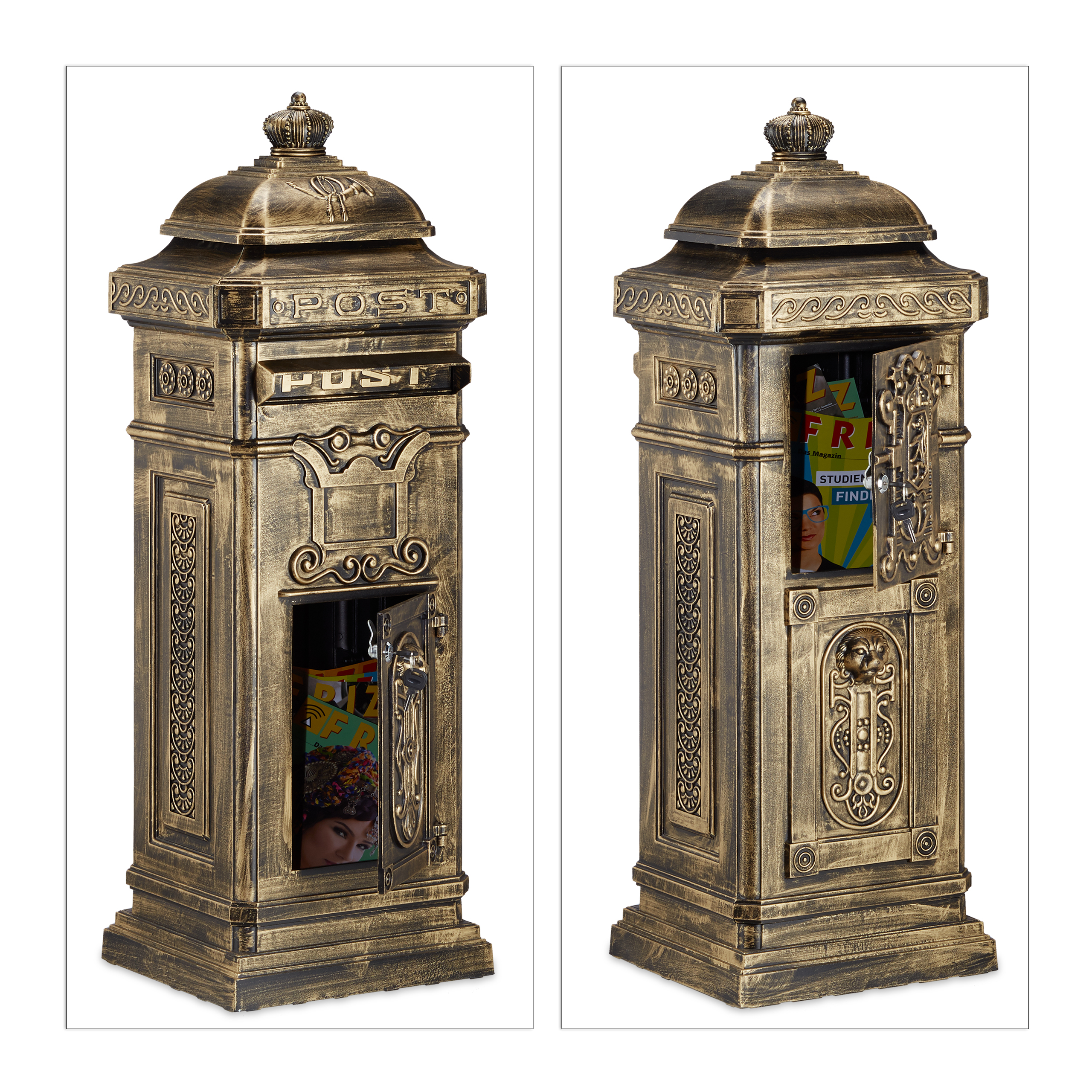 Englischer Standbriefkasten Alu Säulenbriefkasten Antikes Design
