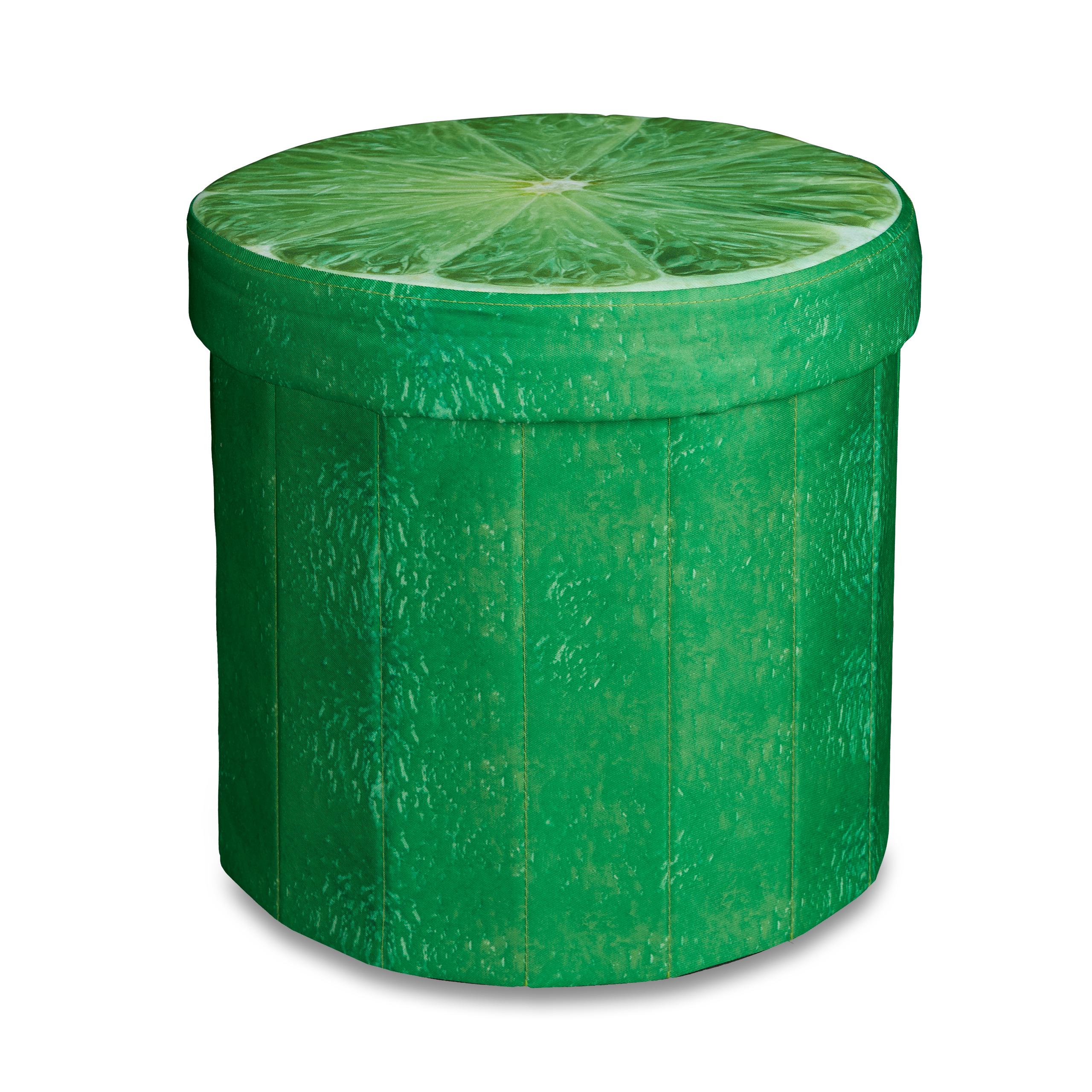 sitzhocker mit stauraum hocker rund motiv obst aufbewahrungsbox falthocker stuhl ebay