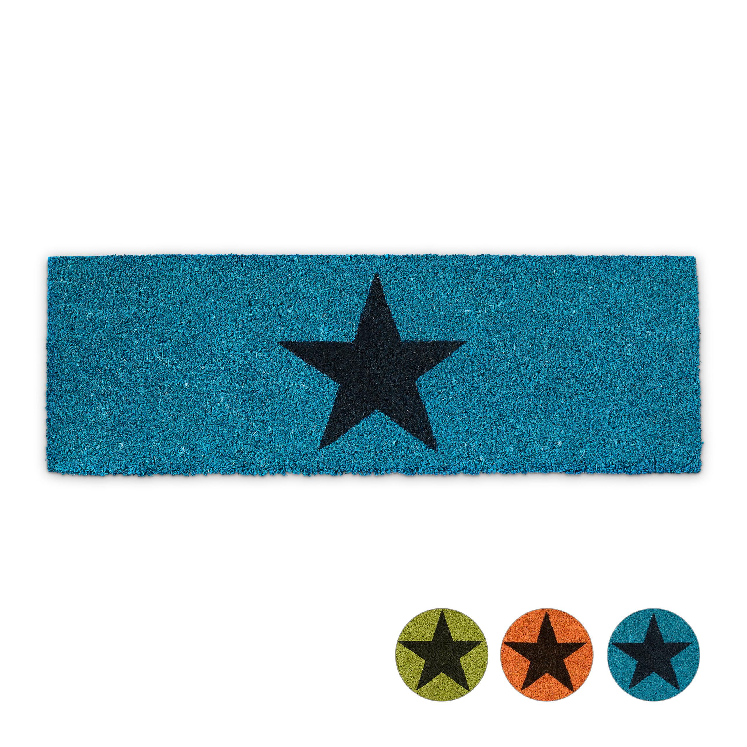 Paillasson-STERN-fibres-de-coco-antiderapant-etoile-vert-bleu-orange-nature