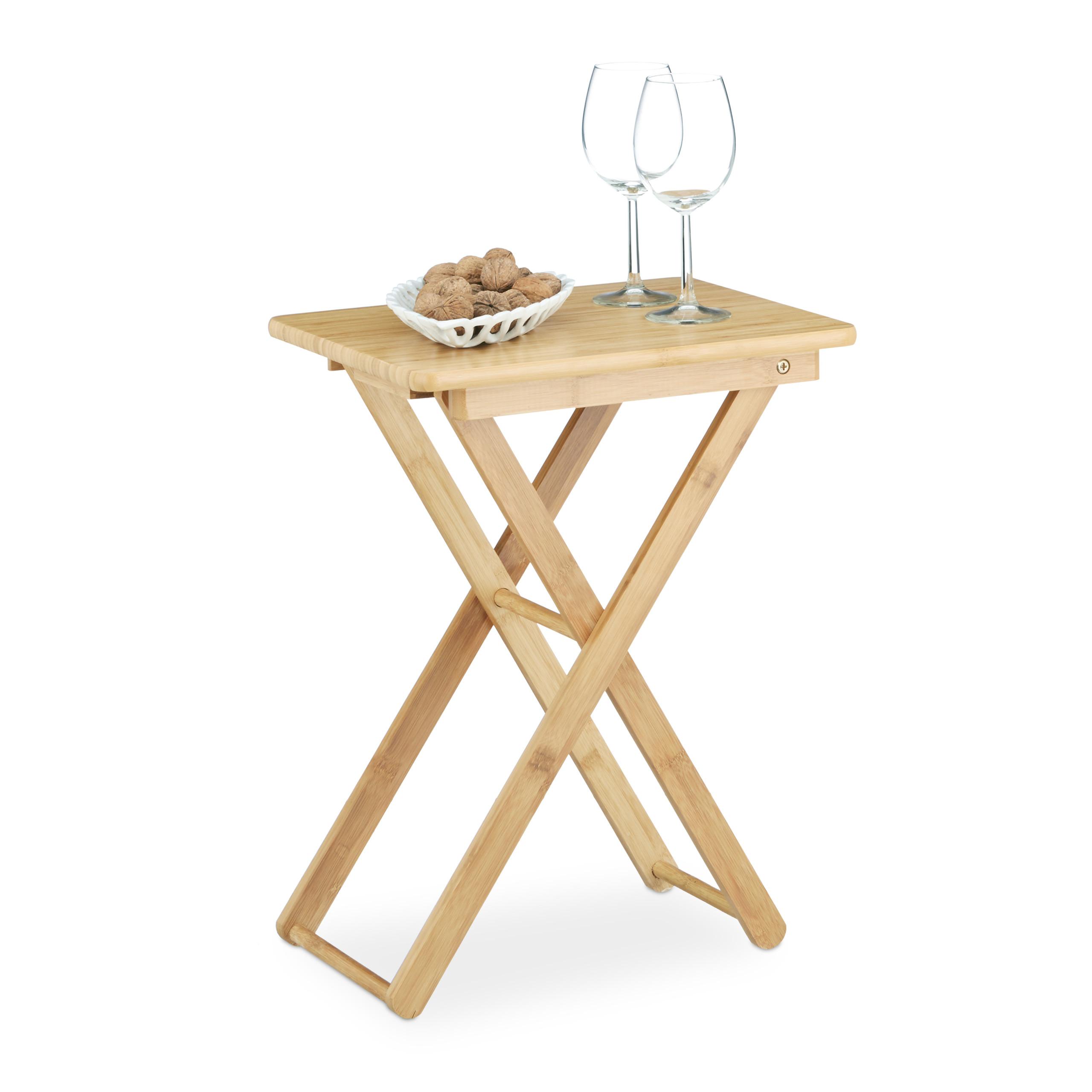 Tisch Zum Klappen : beistelltisch zum klappen bambus falttisch landhausstil gartentisch balkon tisch ebay ~ A.2002-acura-tl-radio.info Haus und Dekorationen