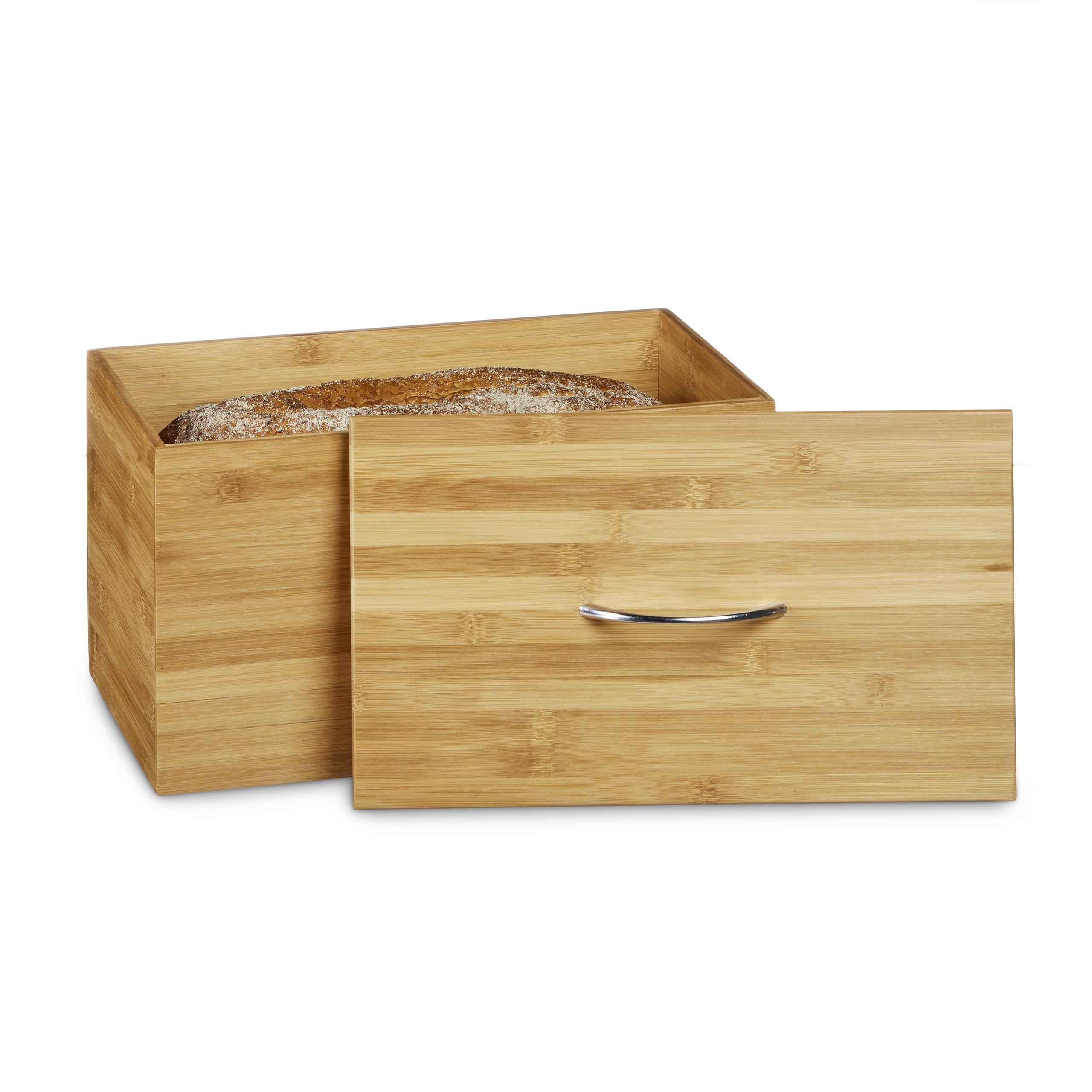 Brotkasten Bambus Brotbox Brotkiste Brot Kasten Brotdose Brotaufbewahrung Holz