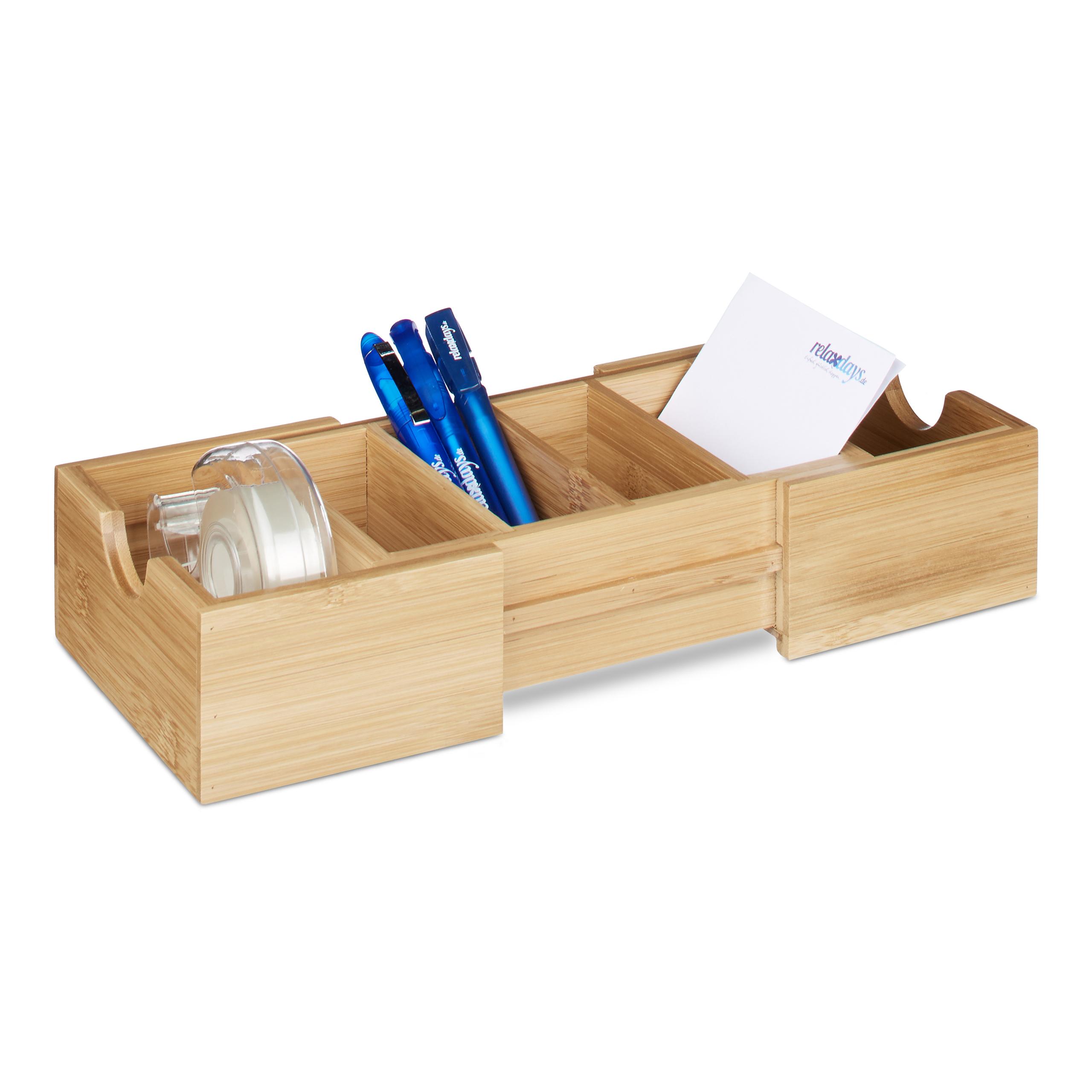 Karteikasten-DIN-A8-Holz-natuerlich-Karteikartensystem-Lernbox-Visitenkartenbox Indexbild 3