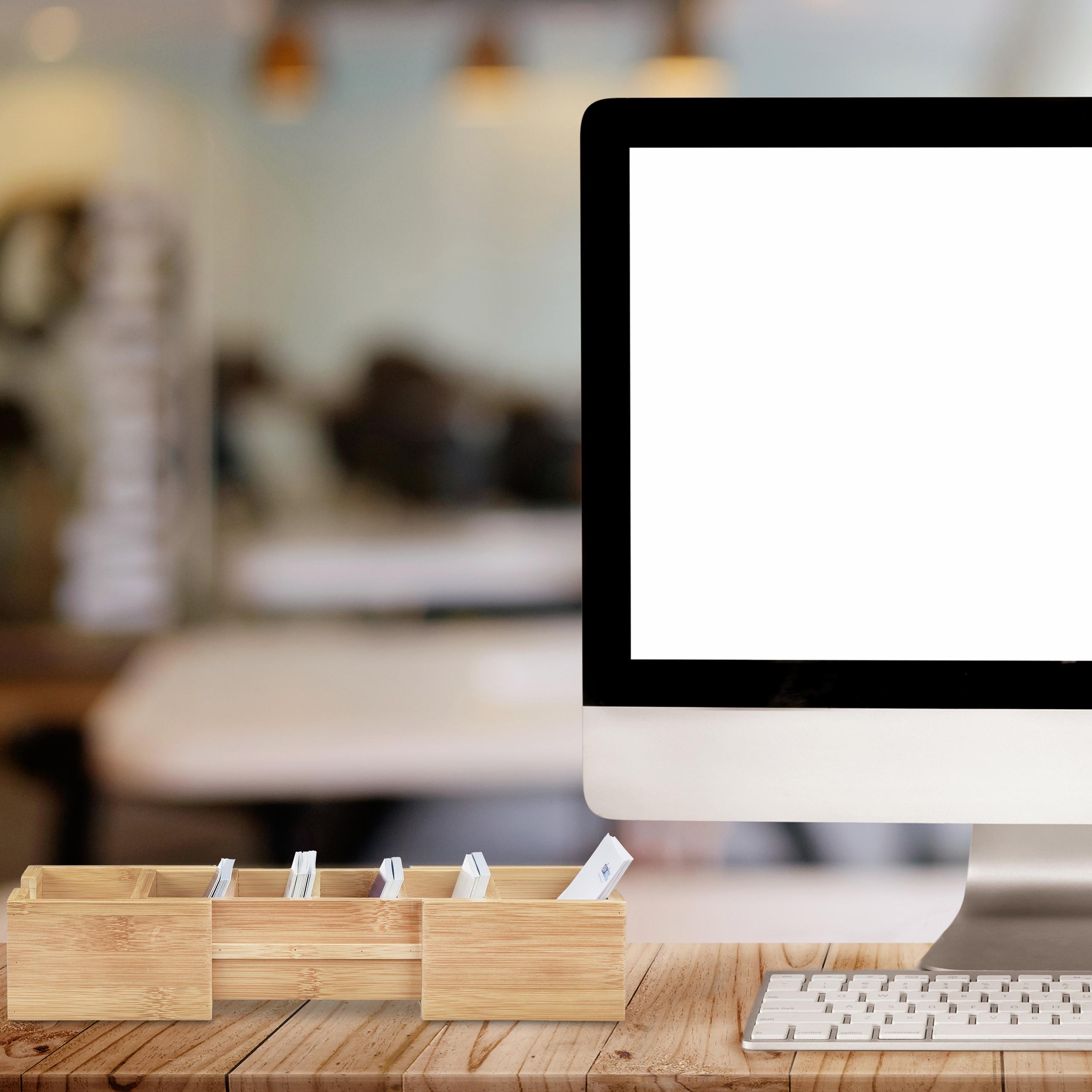 Karteikasten-DIN-A8-Holz-natuerlich-Karteikartensystem-Lernbox-Visitenkartenbox Indexbild 4