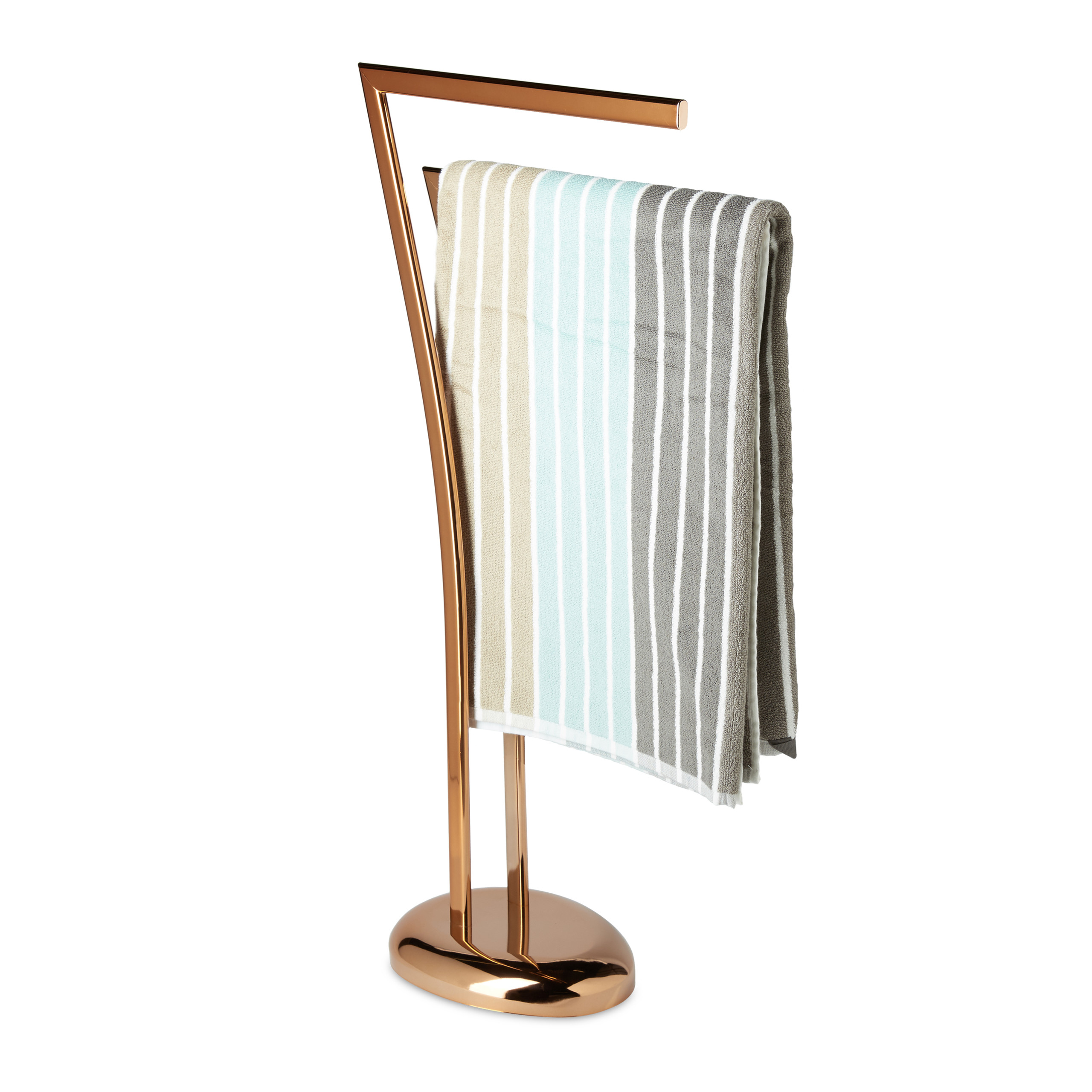 Porte-serviettes-cuivre-support-serviettes-gant-de-toilette-main-2-barres-bras