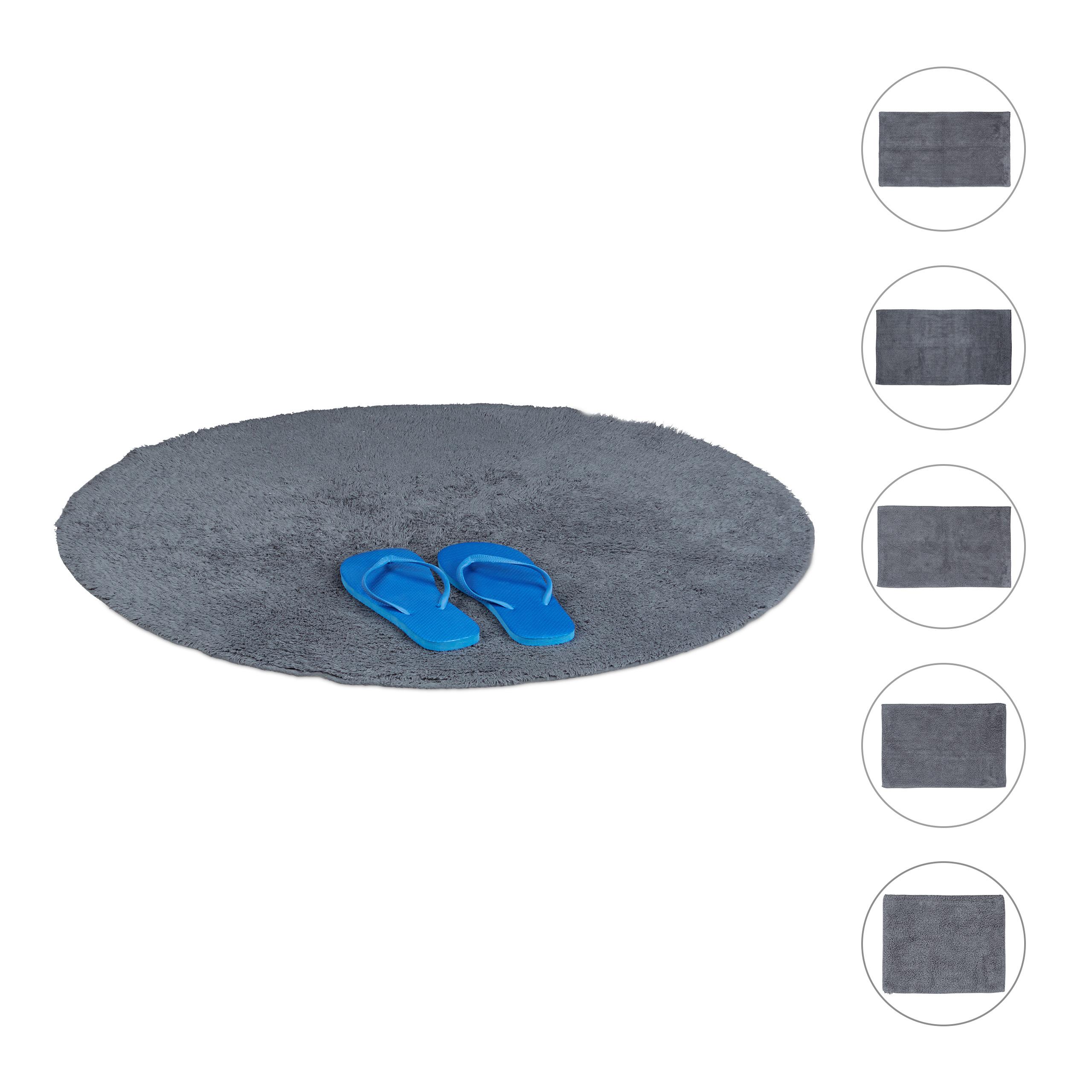 Badvorleger Für Fußbodenheizung Badematte Waschbar Grau