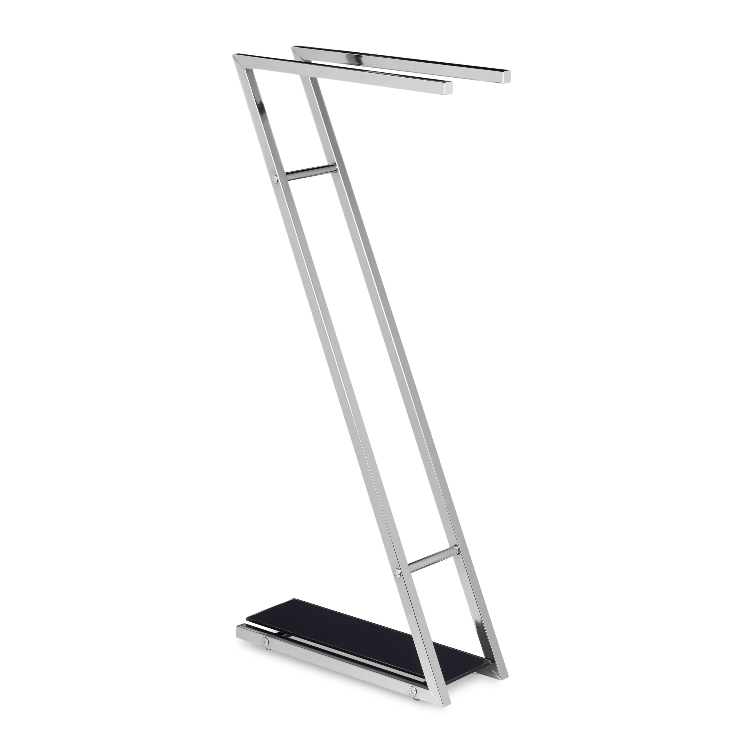 Porte-serviettes-GLASS-sur-pied-2-barre-support-serviettes-essuis-forme-de-Z