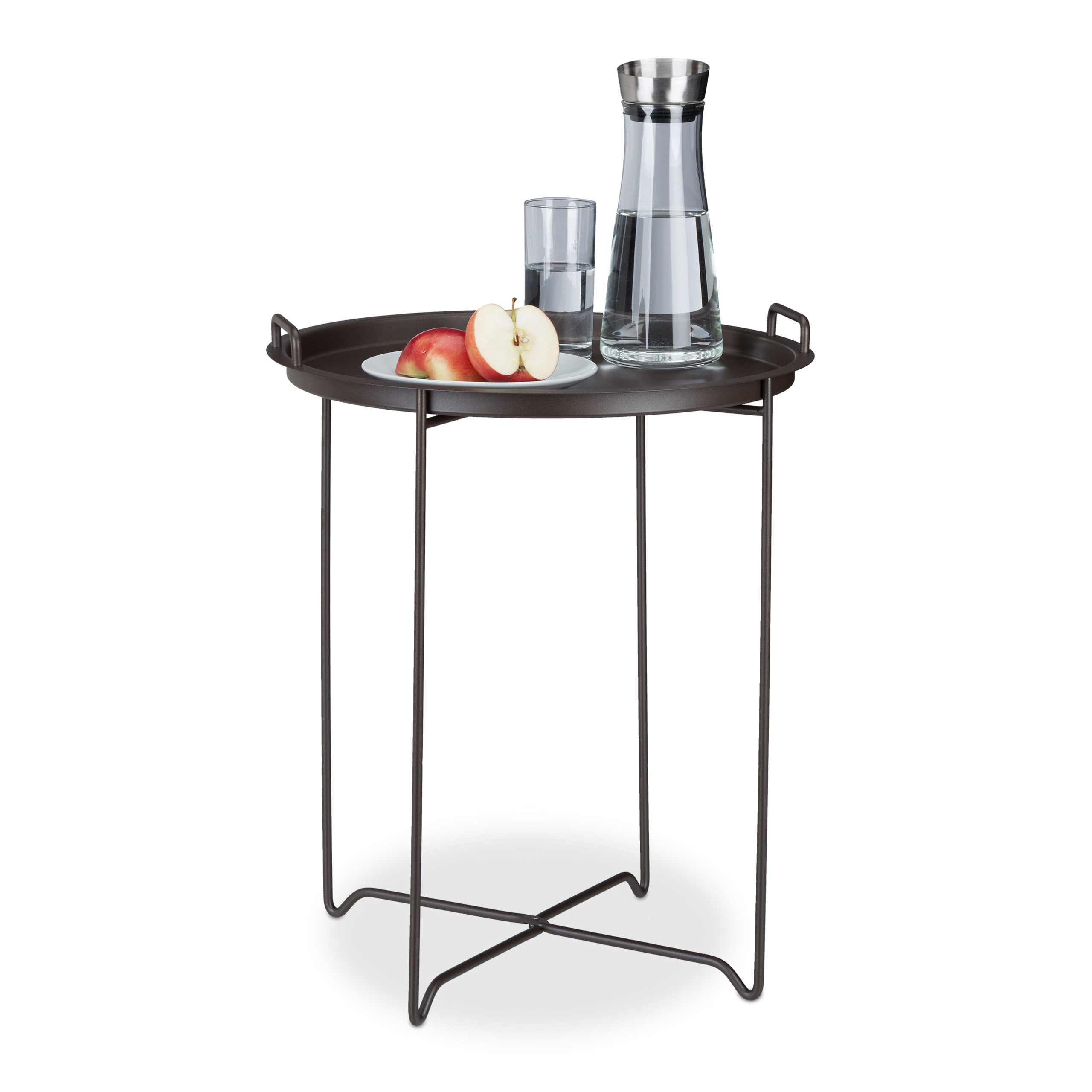 Side-Table-End-Table-Serving-Table-Deco-Table-Round-Metal-Folding-Table-Cocktail