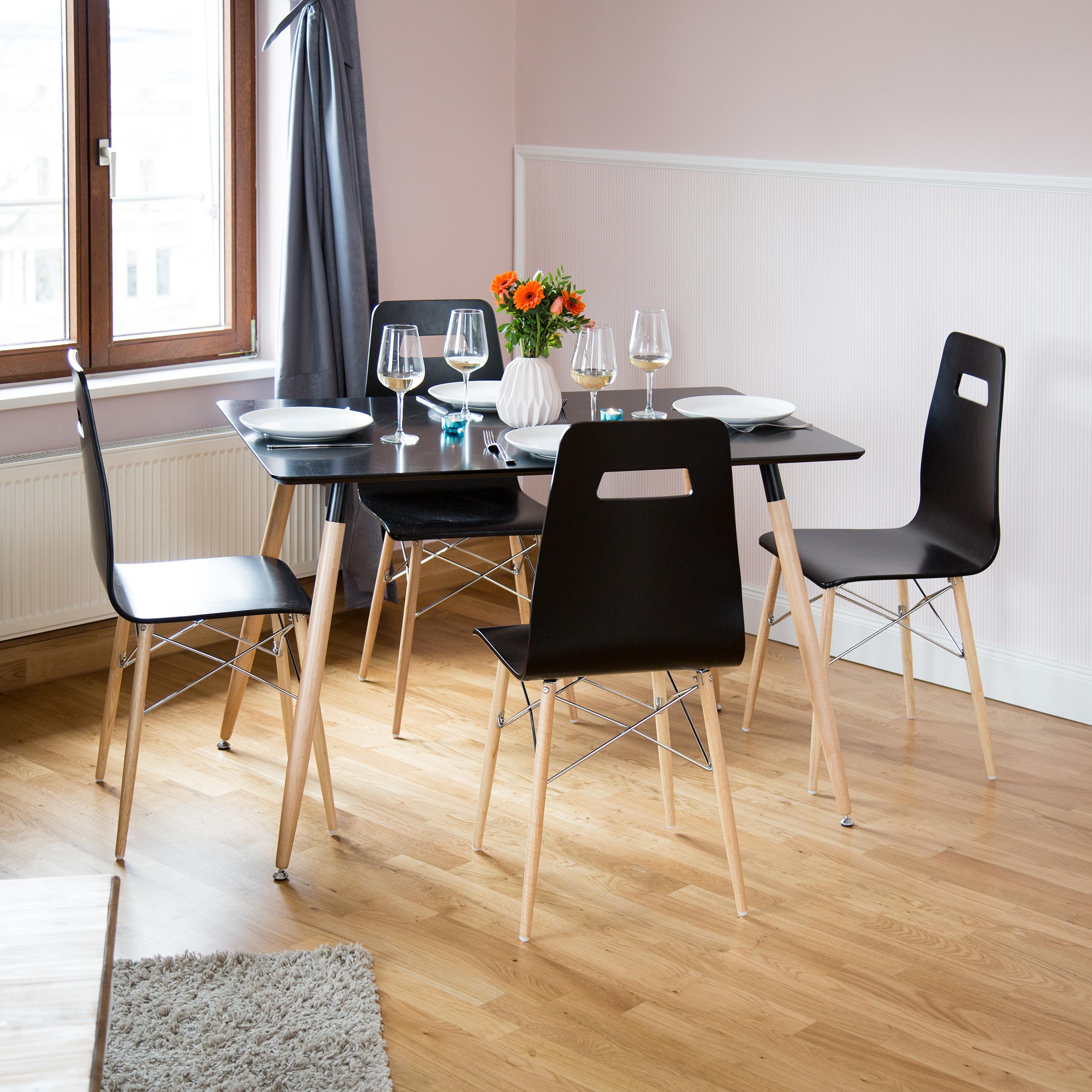 Détails sur Design Chaise 4er Set, salle à manger chaise, salon moderne,  Coloré, rétro, vintage- afficher le titre d\'origine