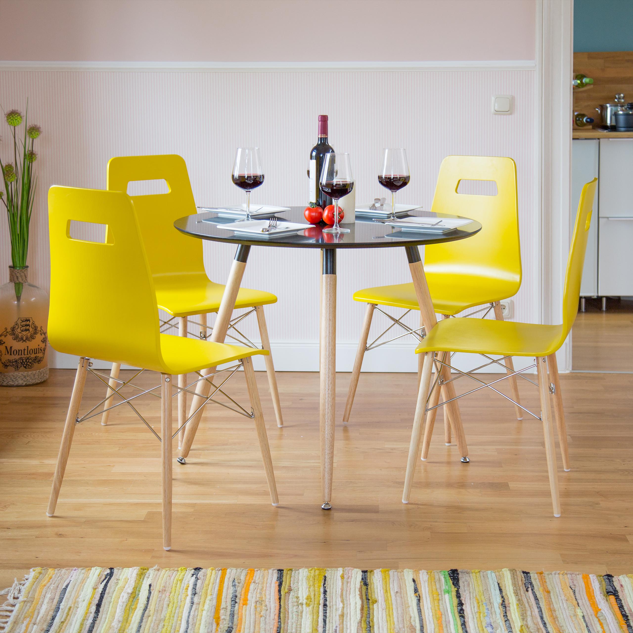 Design Stuhl 4er Set, Esszimmerstuhl, Sitzgruppe modern, bunt, Retro ...
