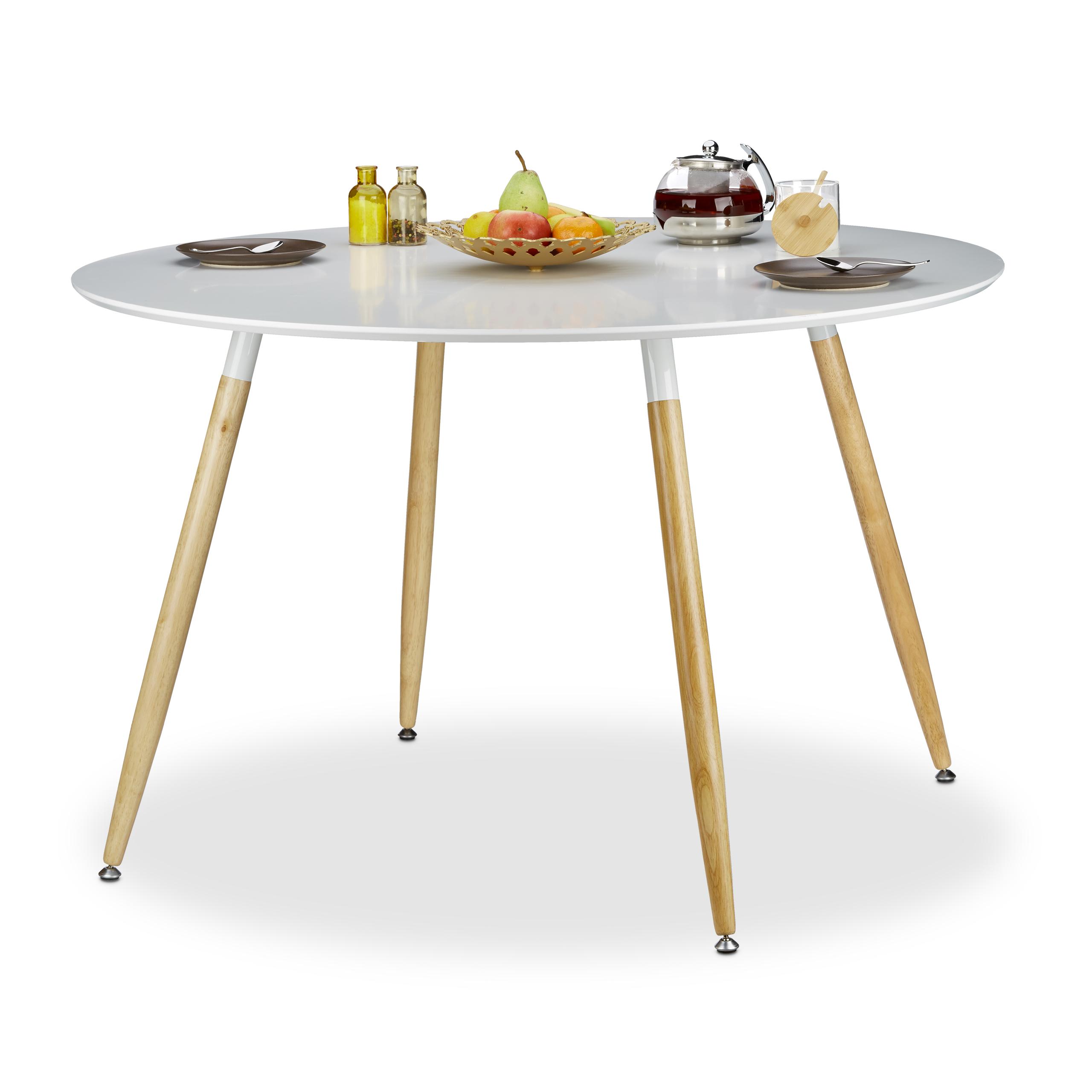Esstisch rund, Holz, 6 - 8 Personen Esszimmertisch, nordisch Design ...