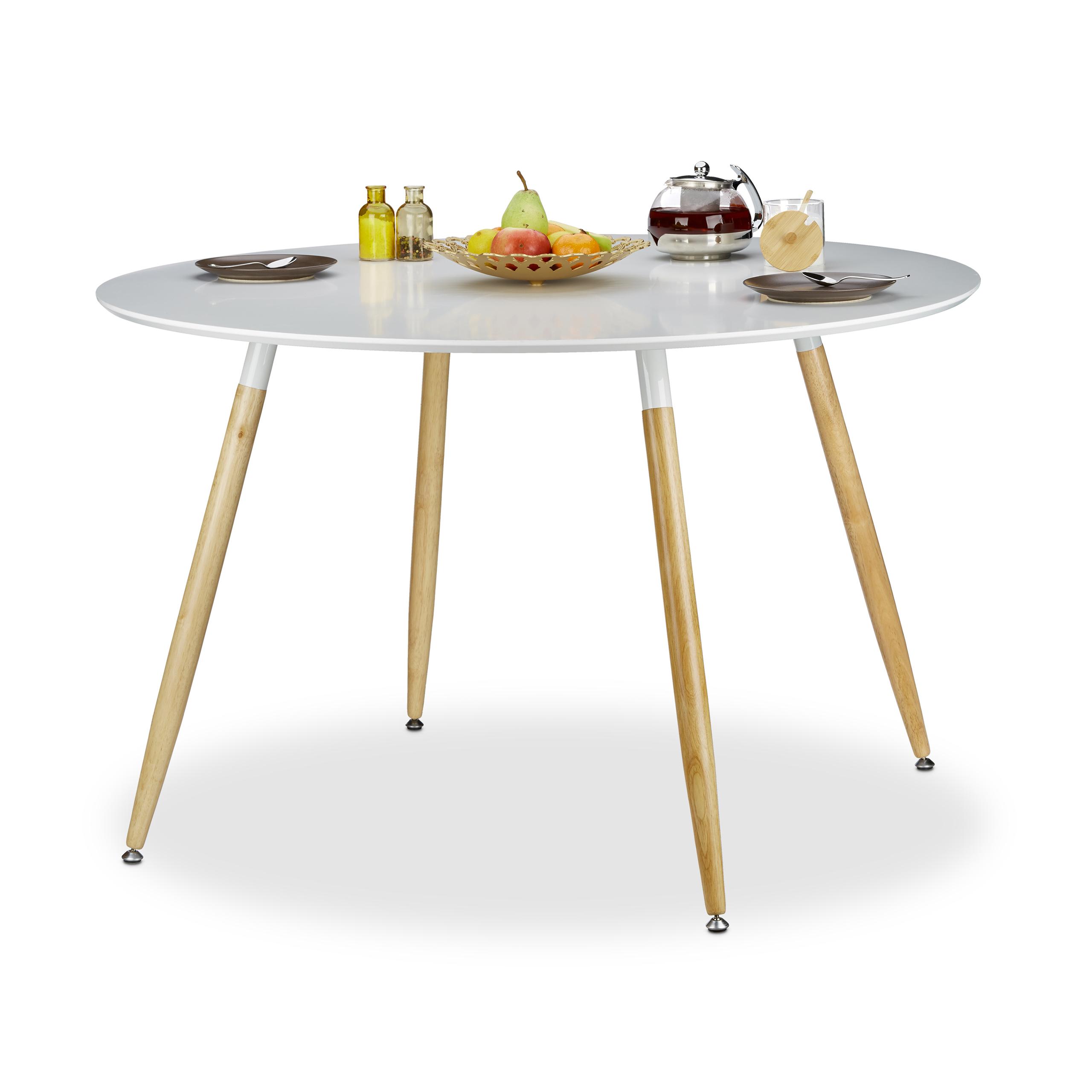 Tavolo da pranzo rotondo, modello scandinavo, posto per 6-8 persone ...