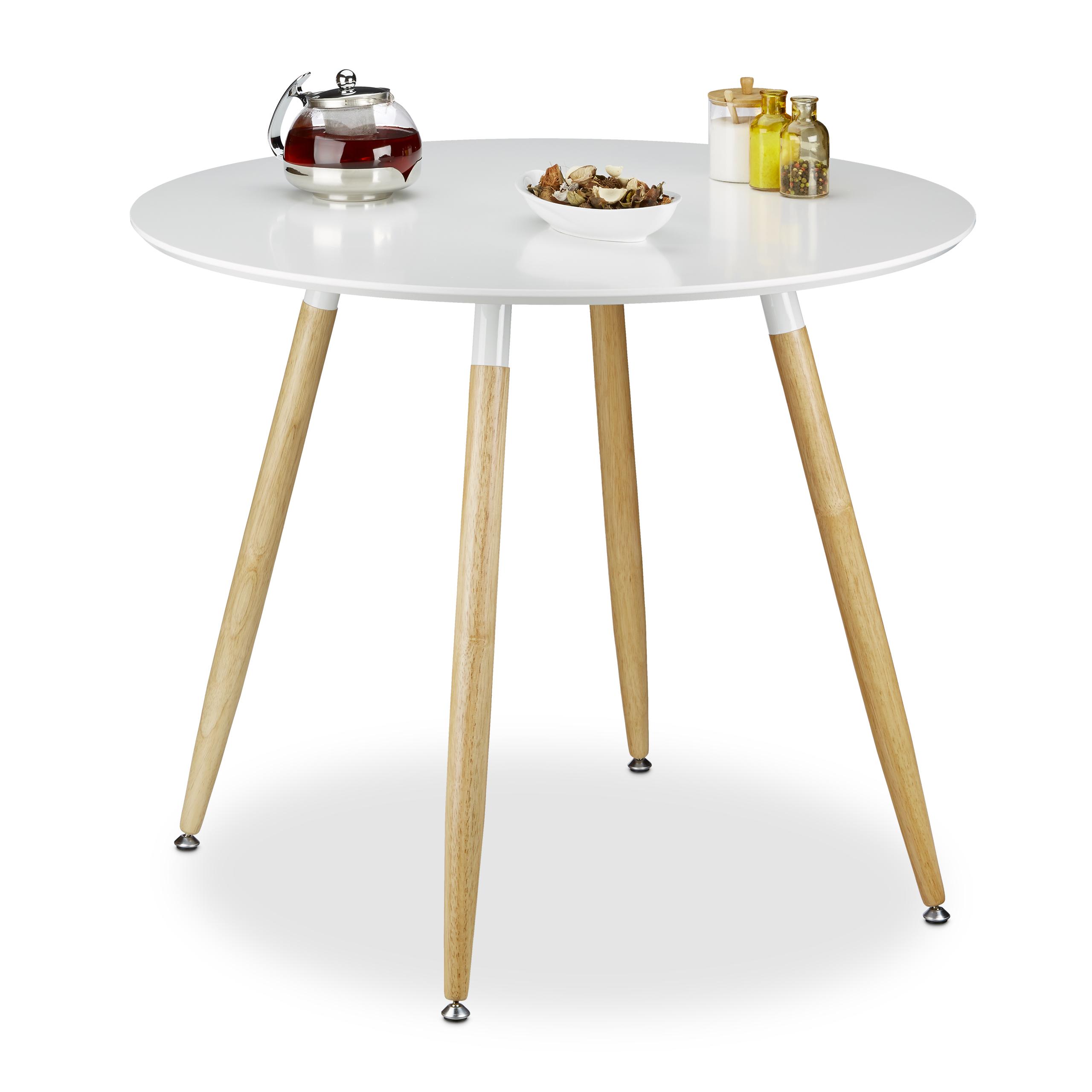 Esstisch rund nordisch skandinavisch Designer Tisch Holz