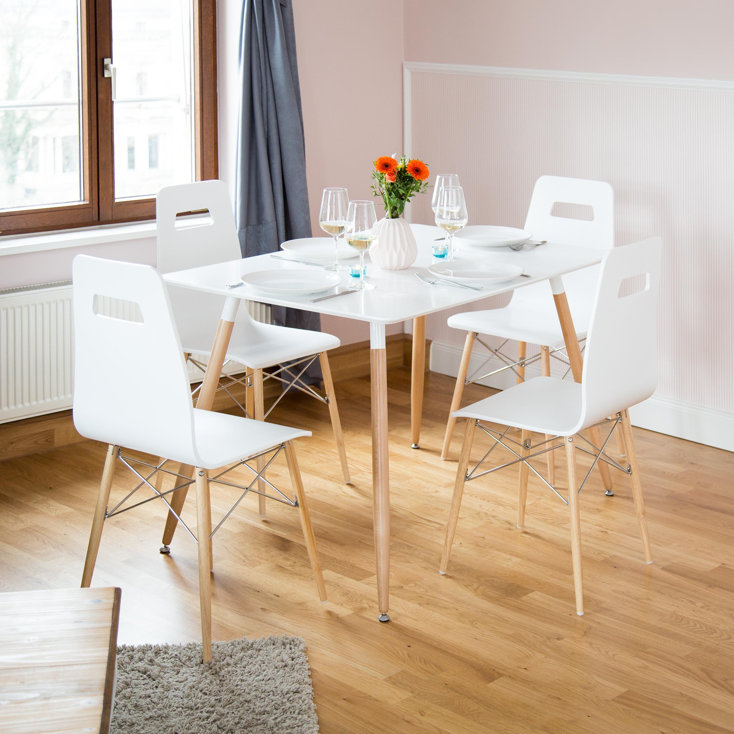 Dettagli su Tavolo da pranzo, 120 x 80 CM, TAVOLINO, sala da pranzo tavolo,  design moderno, tavolo cucina- mostra il titolo originale