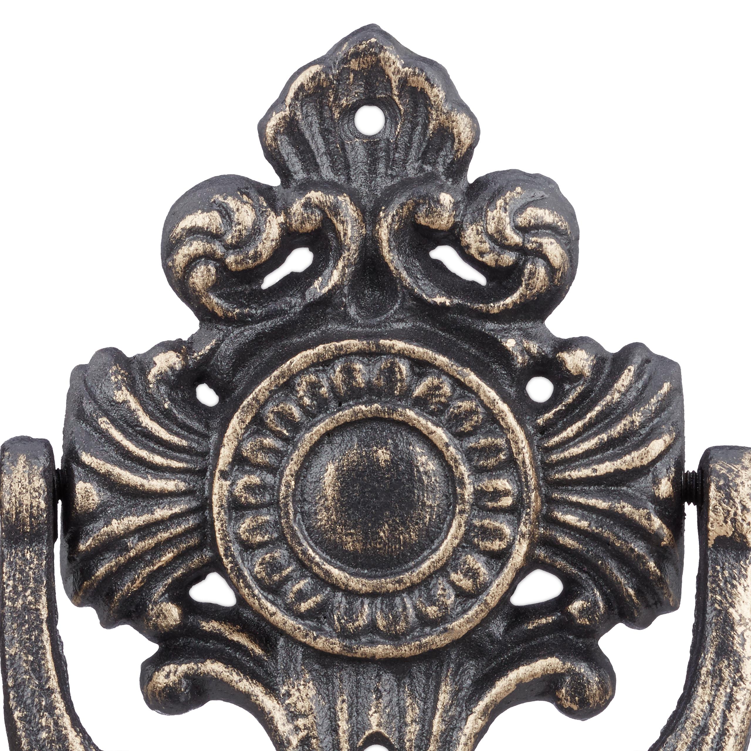 Gusseisen Klopfer mittelalterlich verziert Türklopfer antik für Eingangstür