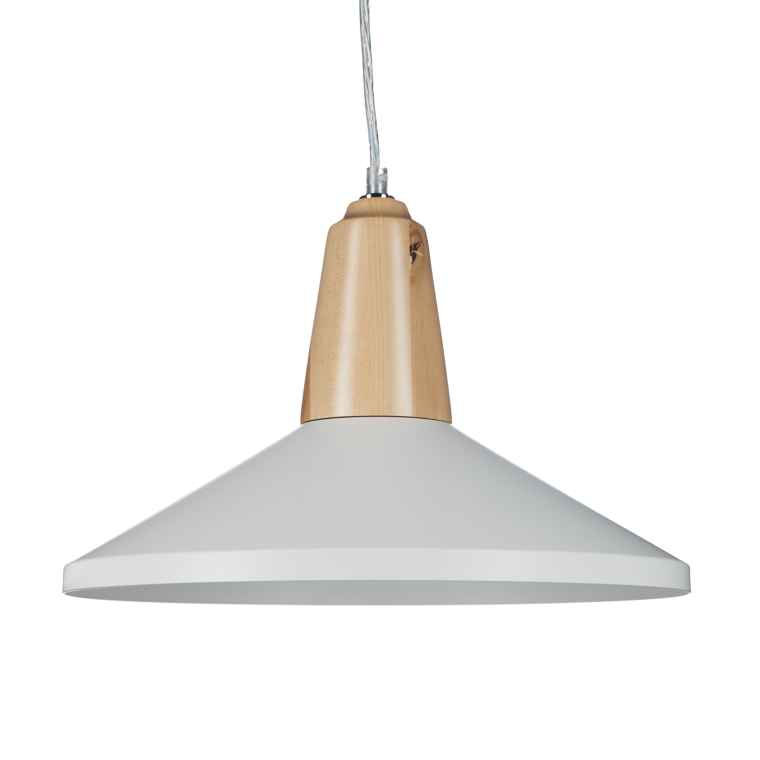Pendelleuchte-Retro-mit-Holz-Fassung-und-Lampenschirm-aus-Metall-E27-Haengelampe