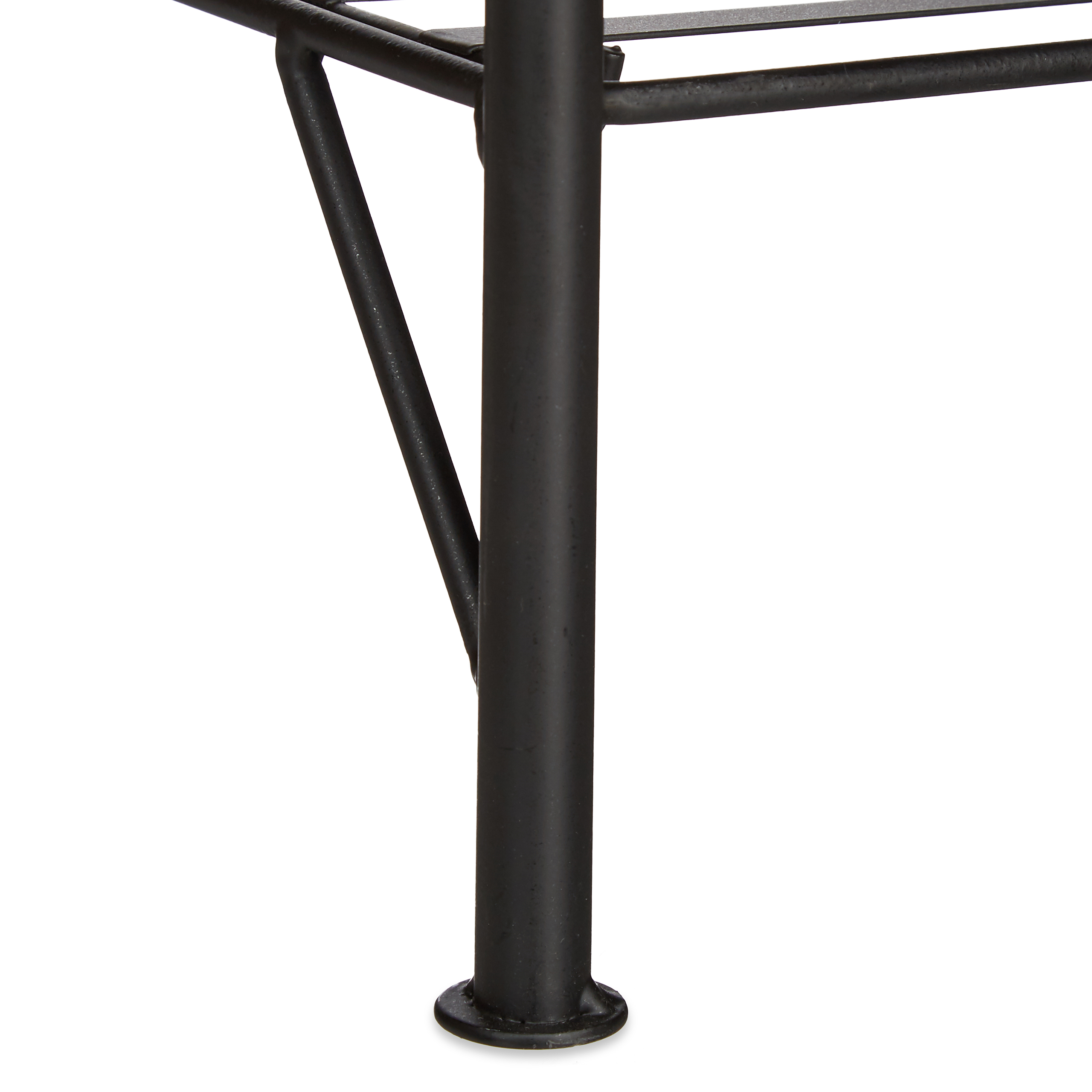 blumenregal metall 4 ablagen blumenbank pfanzenregal schwarz blumenst nder ebay. Black Bedroom Furniture Sets. Home Design Ideas