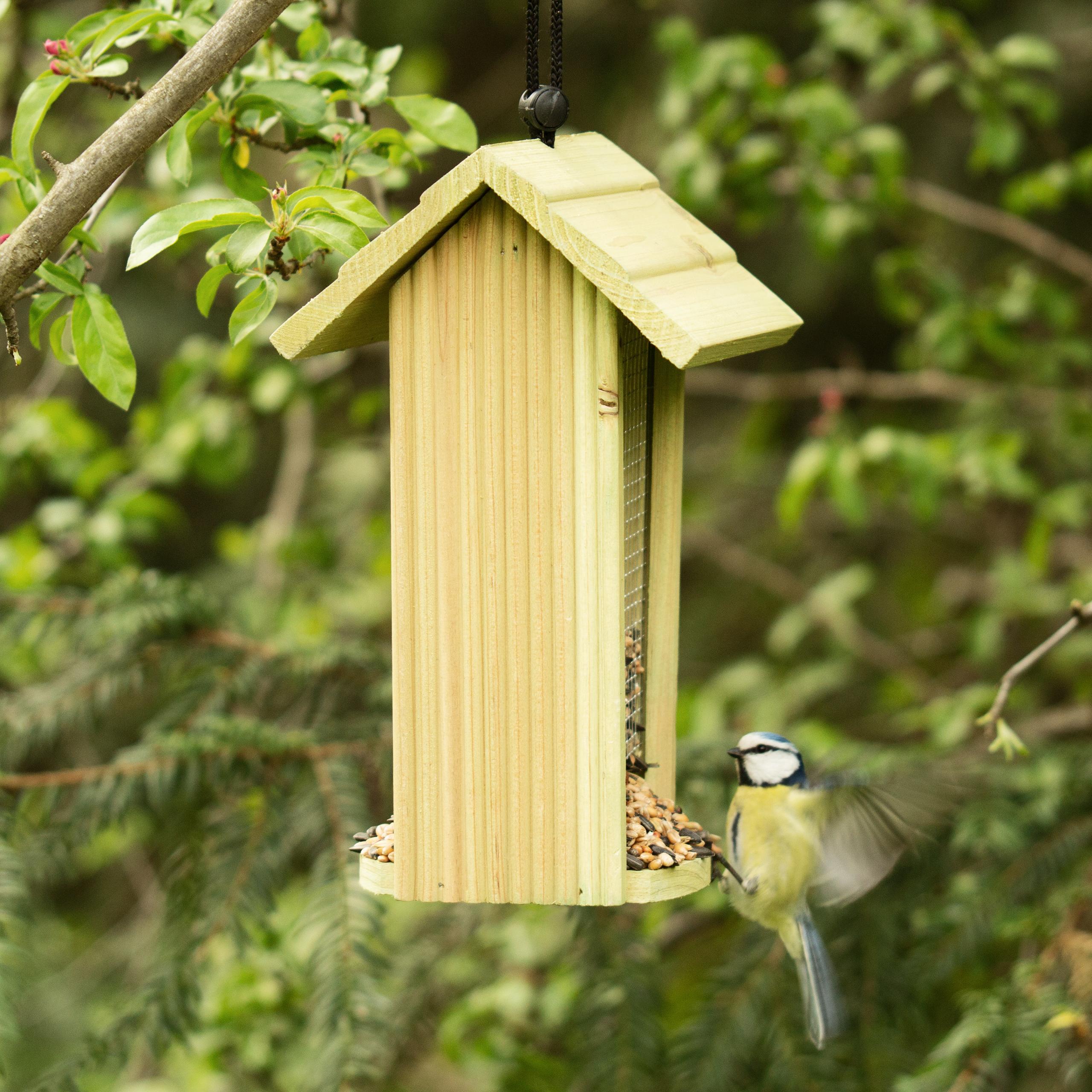 Vogelfutterstation aus Holz Futterstation Vogelhaus