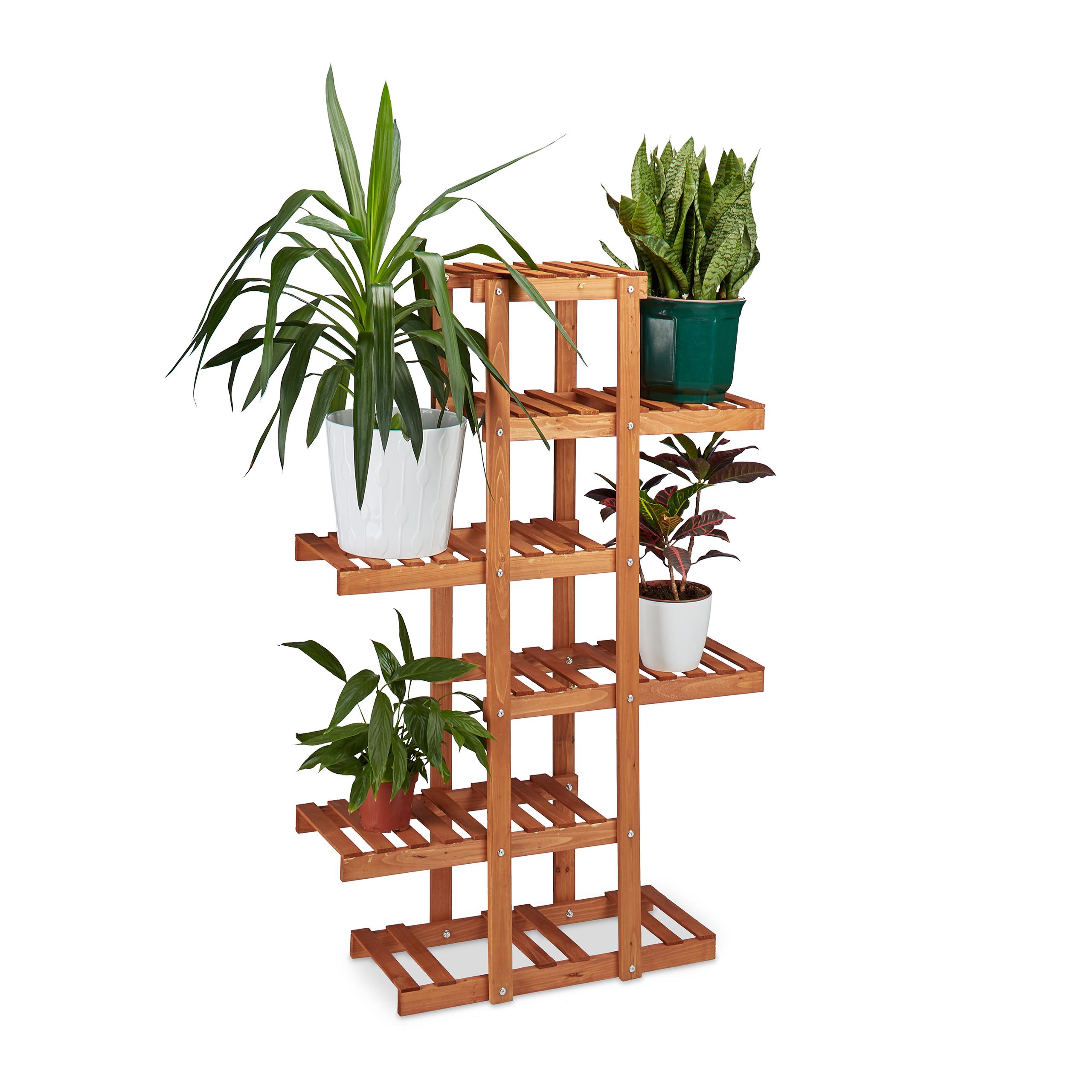 Blumenregal holz etagere f r blumen gro e pflanzentreppe 5 for Fioriera a scala