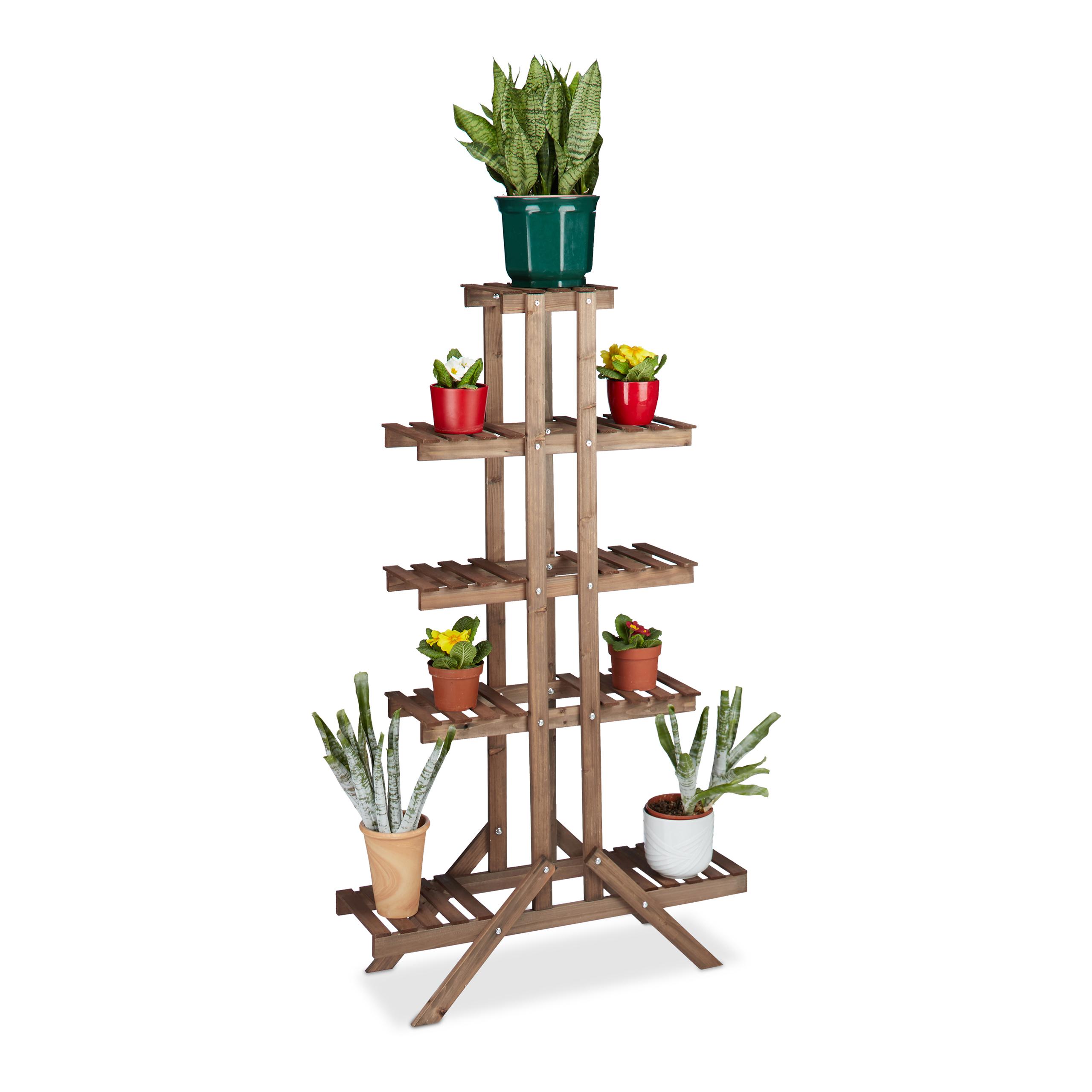 Blumentreppe-hoch-Etagere-Blumen-Blumenstaender-Pflanzenregal-Regal-fuer-Blumen