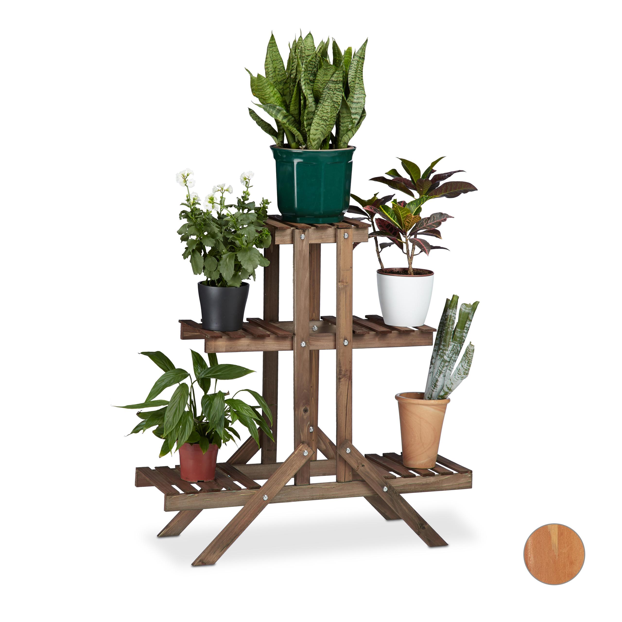 Pflanzentreppe Blumentreppe Blumenbank Pflanzregal Blumenständer Metall 4 Ebenen
