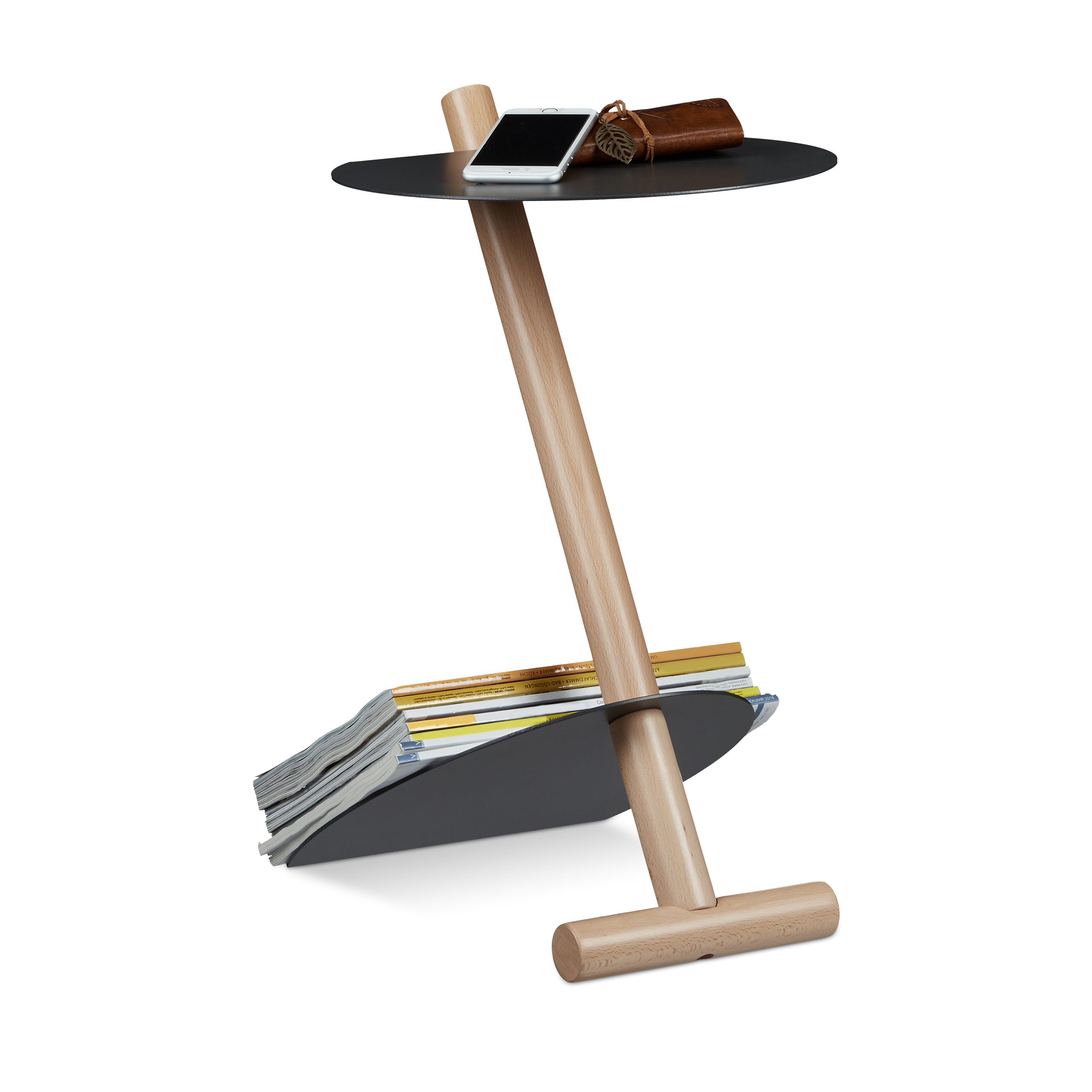 Side-Table-with-Extra-Magazine-Shelf-Metal-amp-Wood-Modern-Design-Coffee-Table