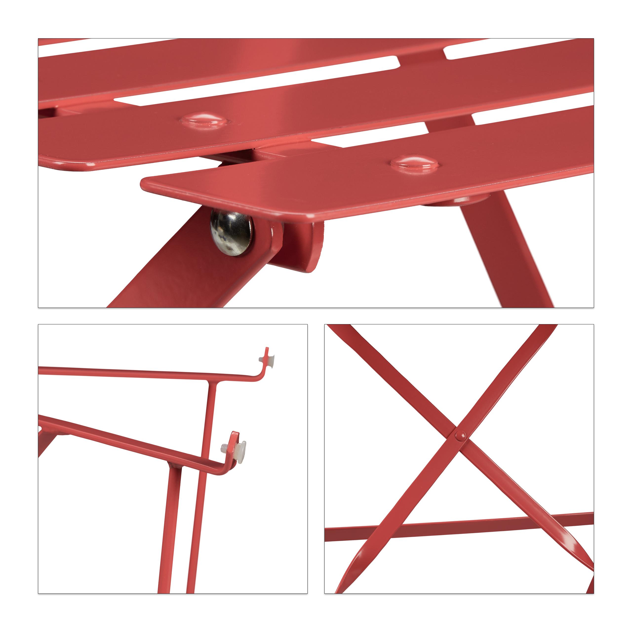 Bistrotisch-2-Stuhle-rund-klappbar-Sitzgruppe-Metall-Gartentisch-Balkontisch