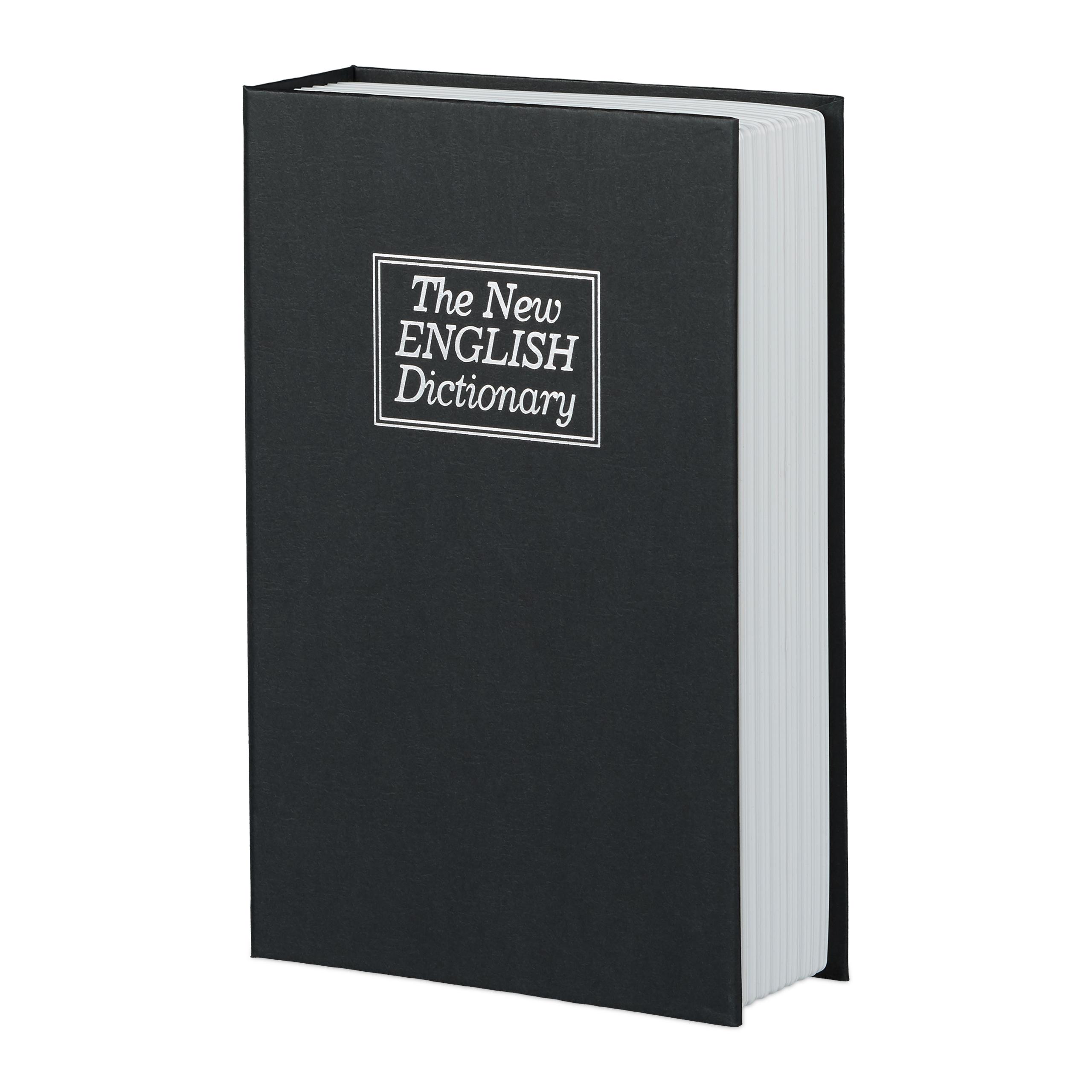 Safe als Englisch-Wörterbuch getarnt Buchtresor mit Stahlschließfach Attrappe
