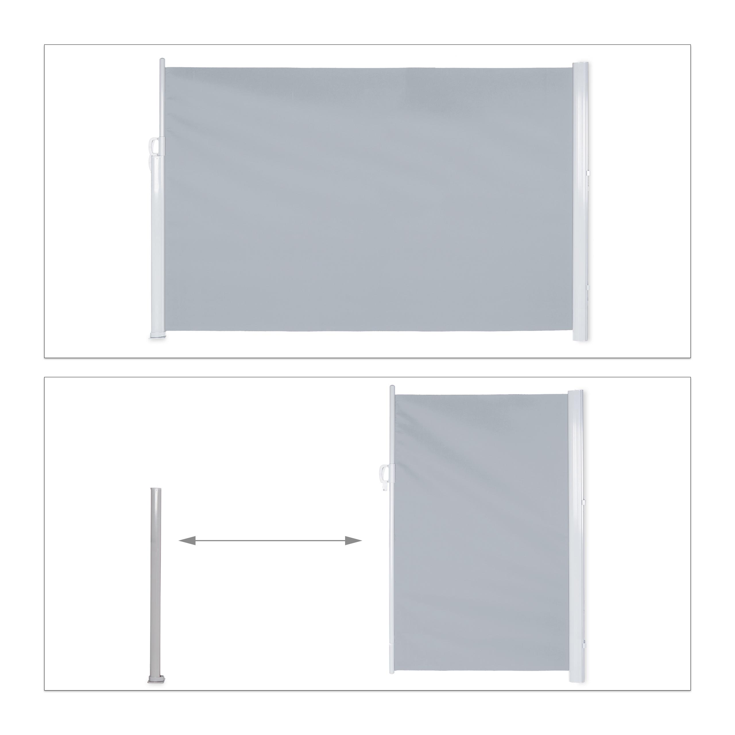 Seitenmarkise-ausziehbar-Anthrazit-180x300-cm-Sichtschutz-Seitenrollo-Markise Indexbild 21