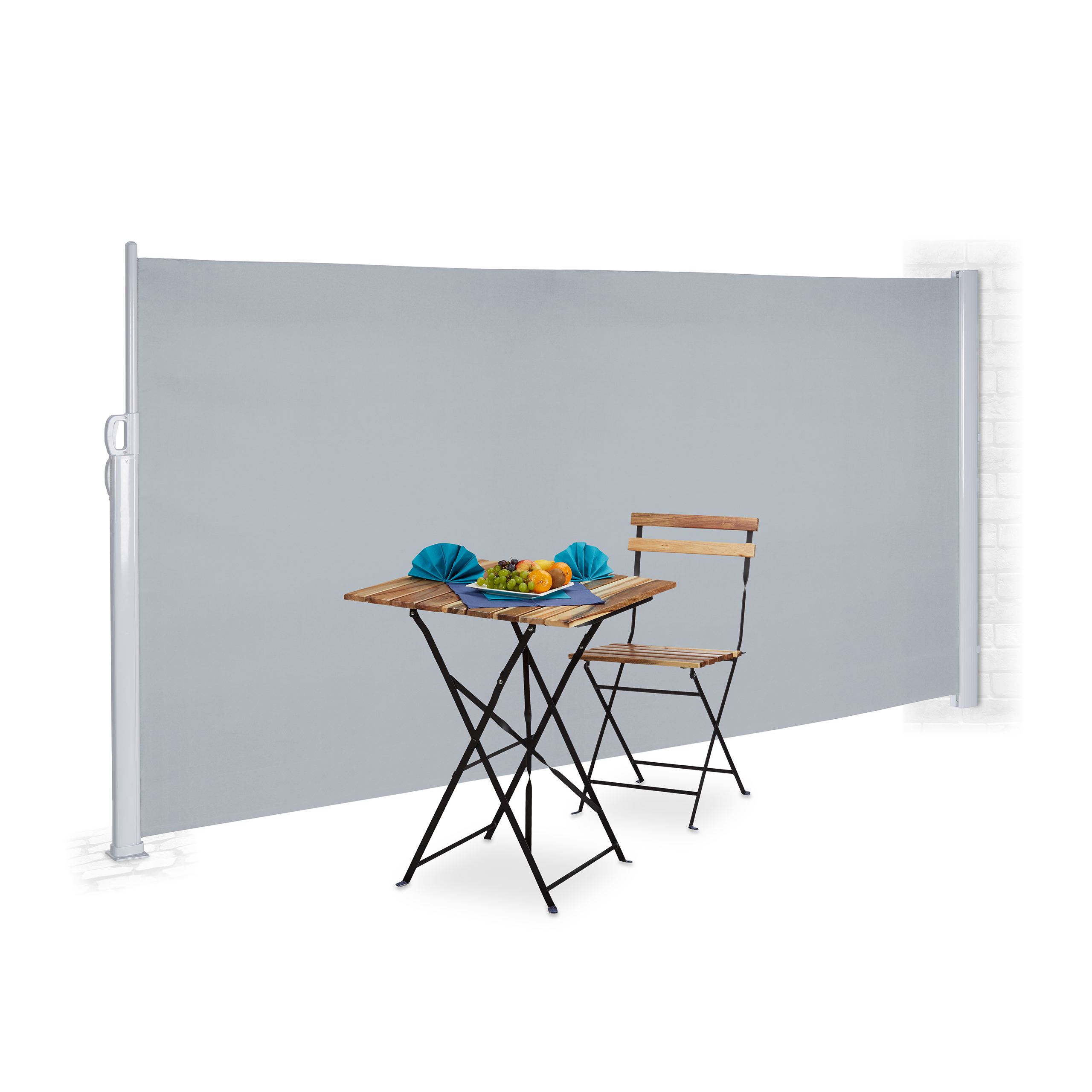 Side-Awning-Pull-Out-Gray-180-x-300-cm-Divider-Wind-Protection-Outdoor