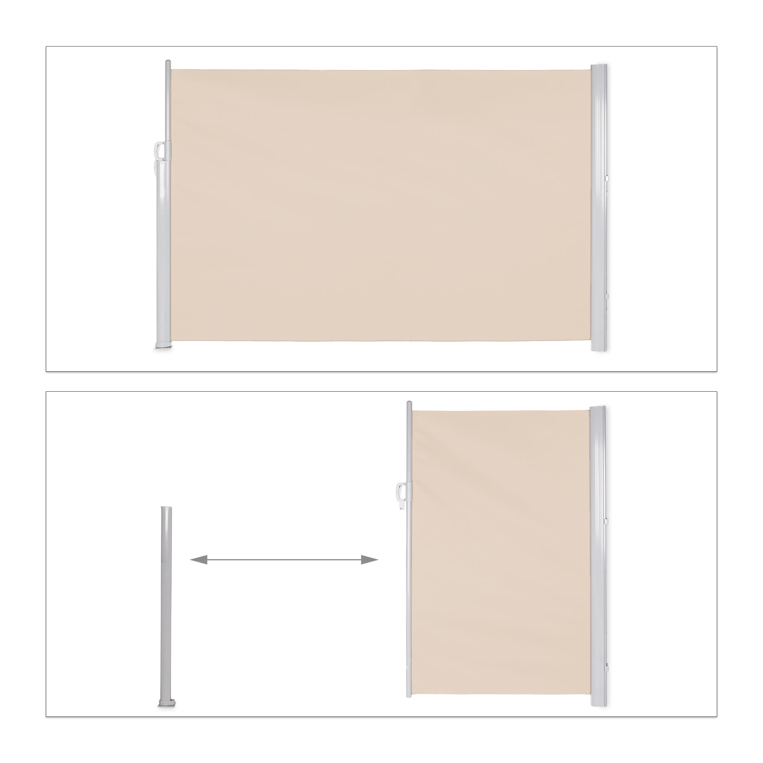 Seitenmarkise-ausziehbar-Anthrazit-180x300-cm-Sichtschutz-Seitenrollo-Markise Indexbild 13