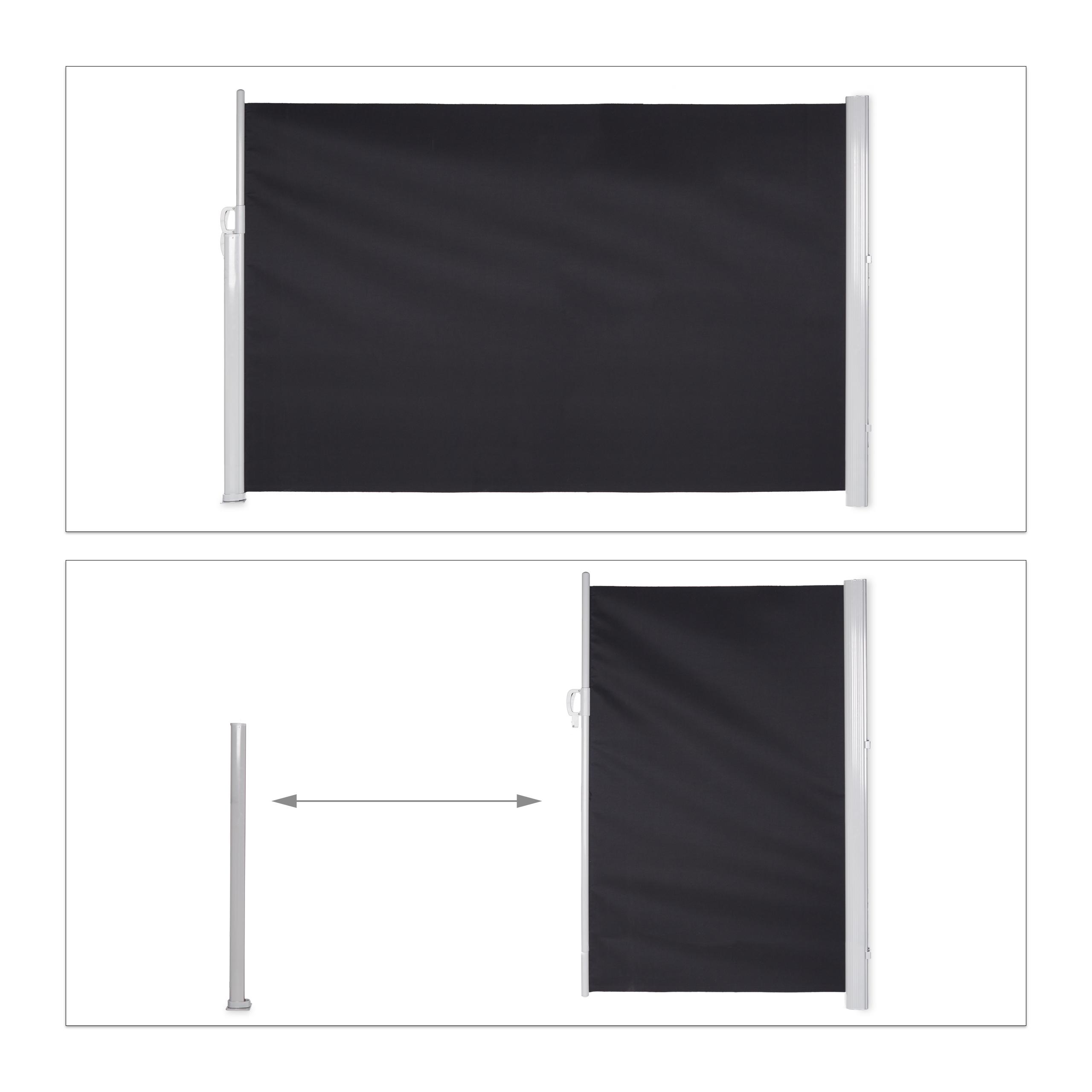 Seitenmarkise-ausziehbar-Anthrazit-180x300-cm-Sichtschutz-Seitenrollo-Markise Indexbild 5